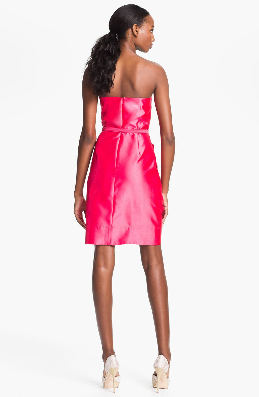 Alternate Image 2  - Eliza J Strapless Foldover Faille Tulip Dress