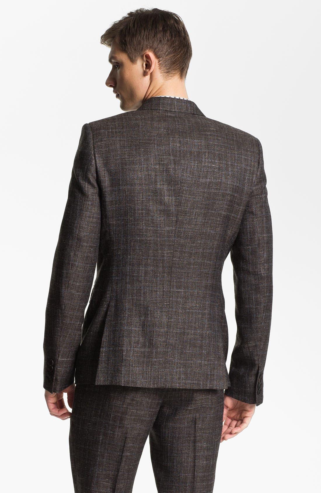 Alternate Image 2  - Burberry Prorsum Plaid Twill Sportcoat