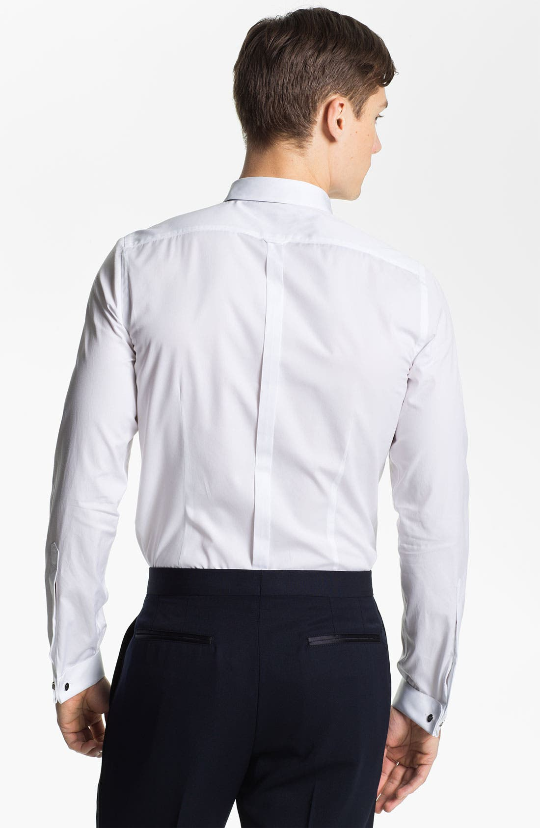 Alternate Image 2  - Burberry Prorsum Cotton Poplin Tuxedo Shirt