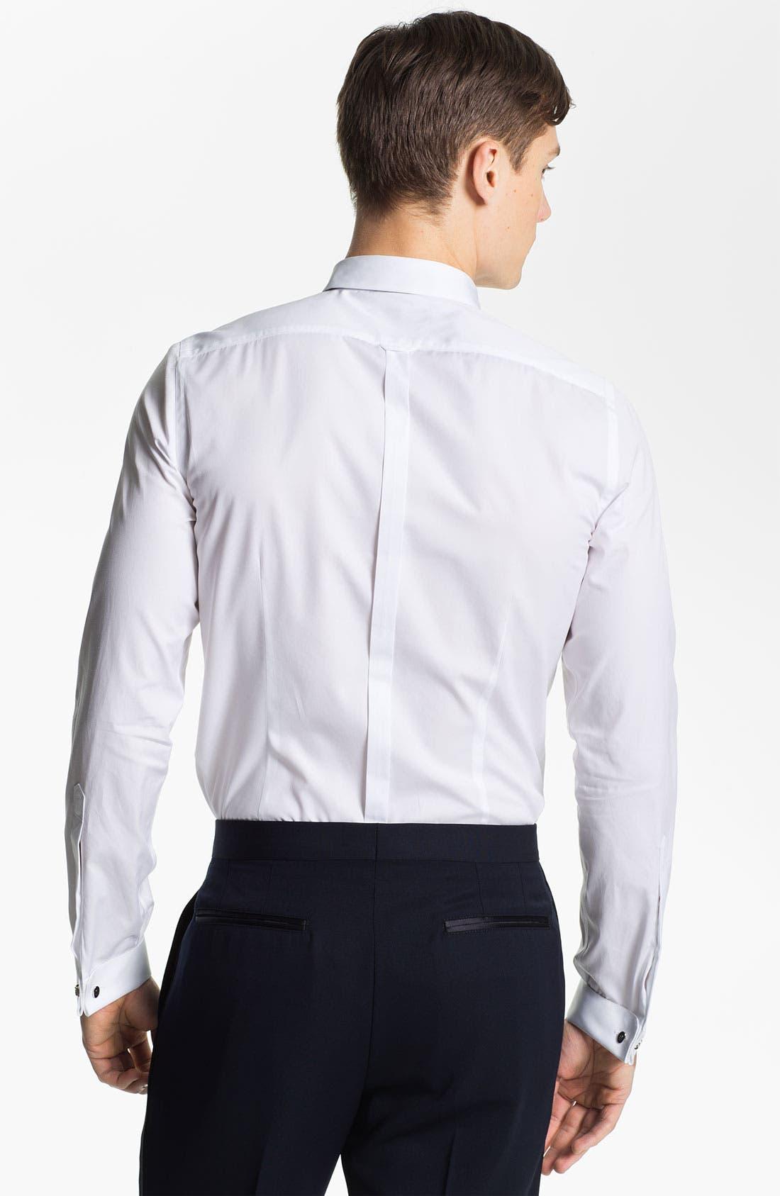 Alternate Image 2  - Burberry Prorsum Cotton Poplin Tuxedo Shirt