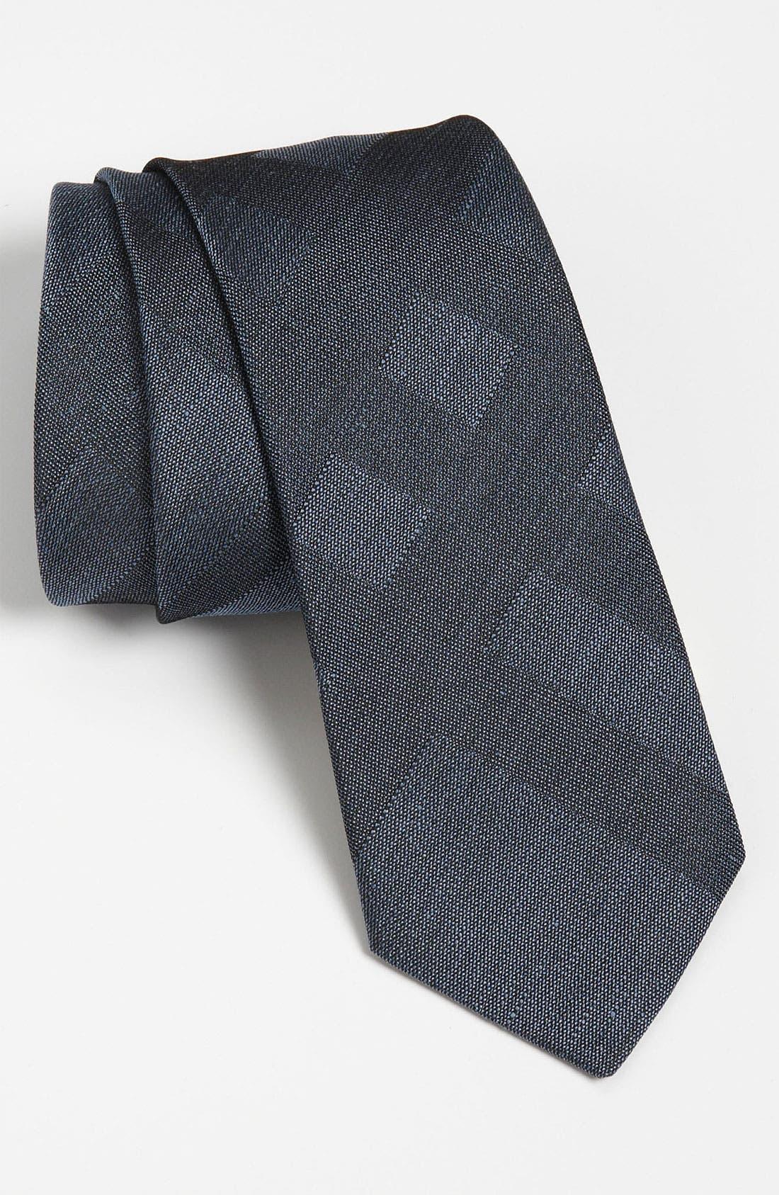 Main Image - Burberry London Woven Silk & Linen Tie