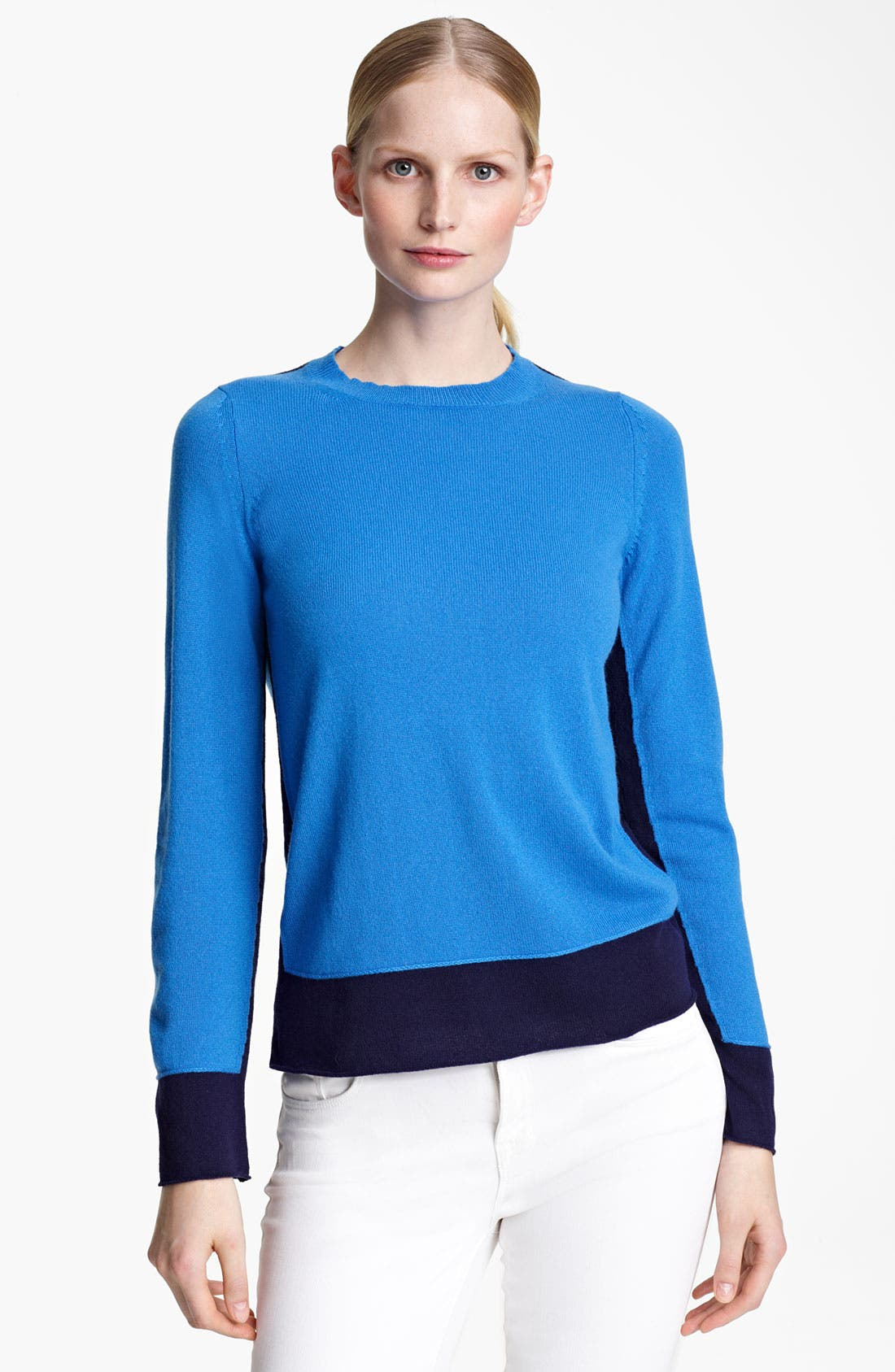 Alternate Image 1 Selected - Jil Sander Contrast Hem Cashmere Sweater