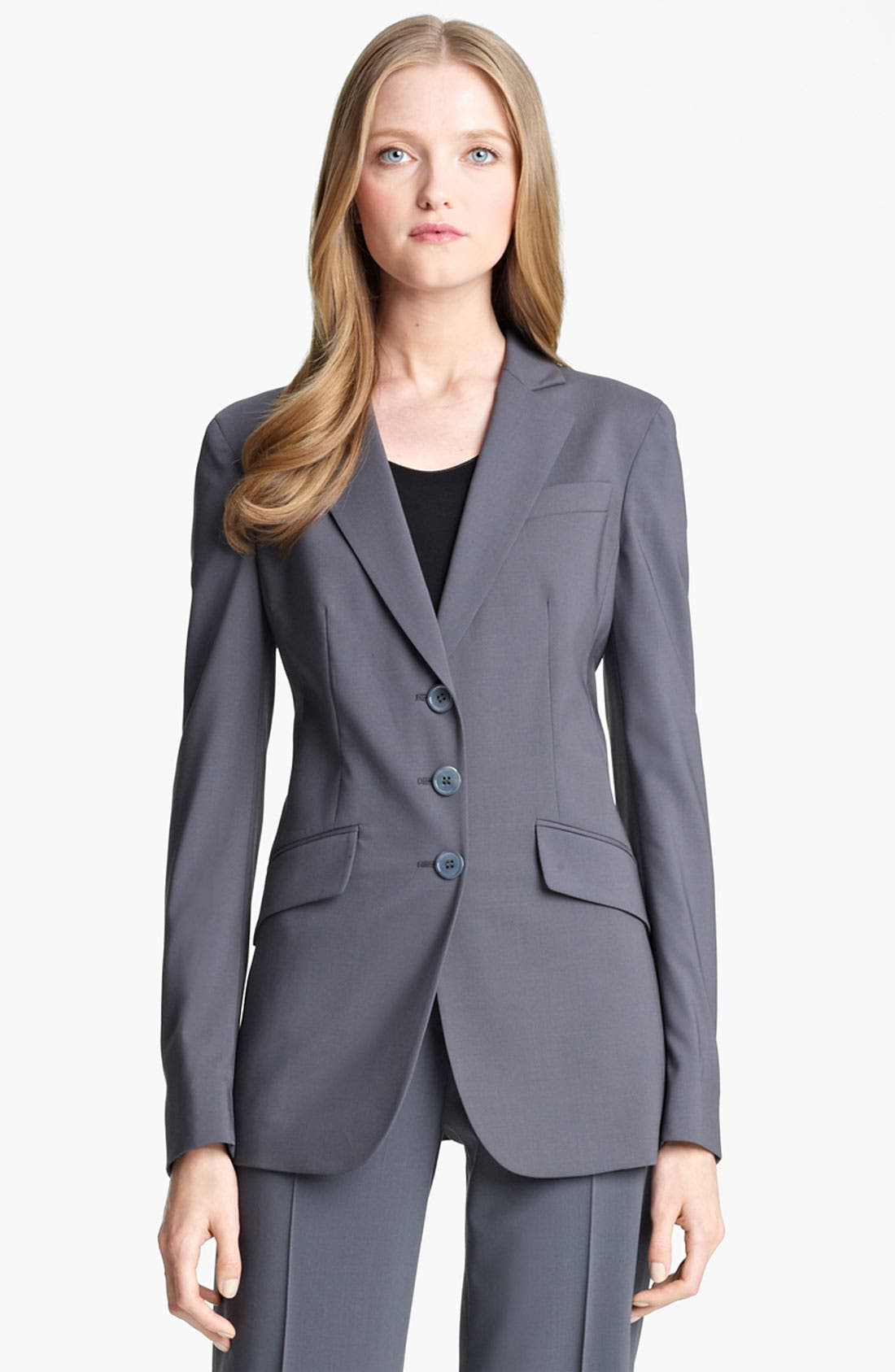 Alternate Image 2  - Armani Collezioni Stretch Wool Jacket