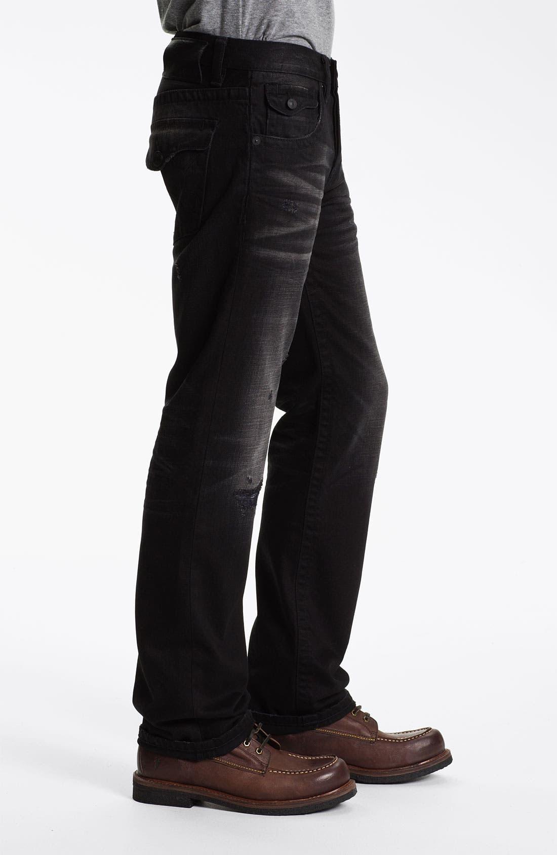 Alternate Image 3  - MEK Denim 'Riley' Straight Leg Jeans (Miner Black)