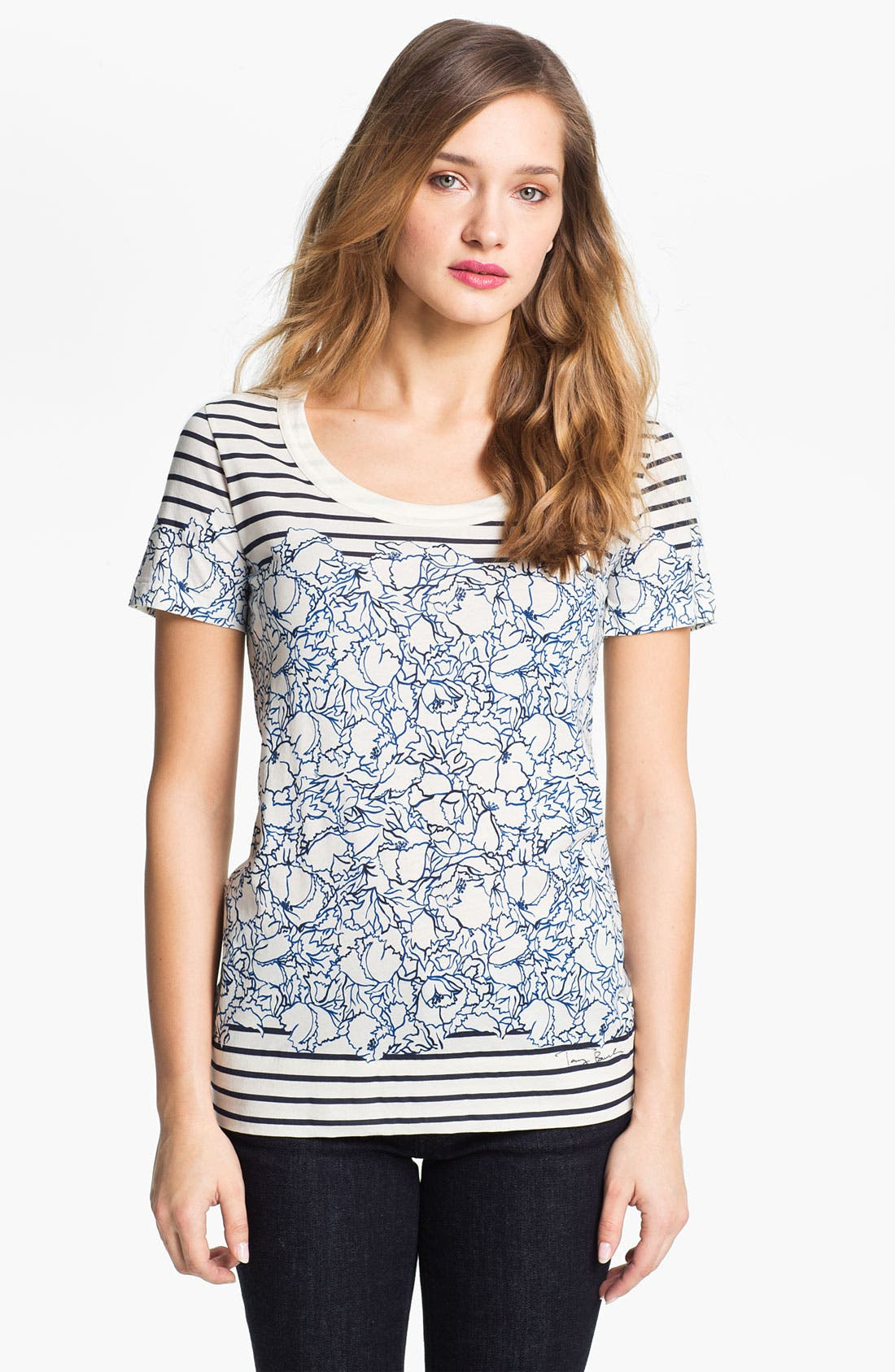 Alternate Image 1 Selected - Tory Burch 'Carson' Tee