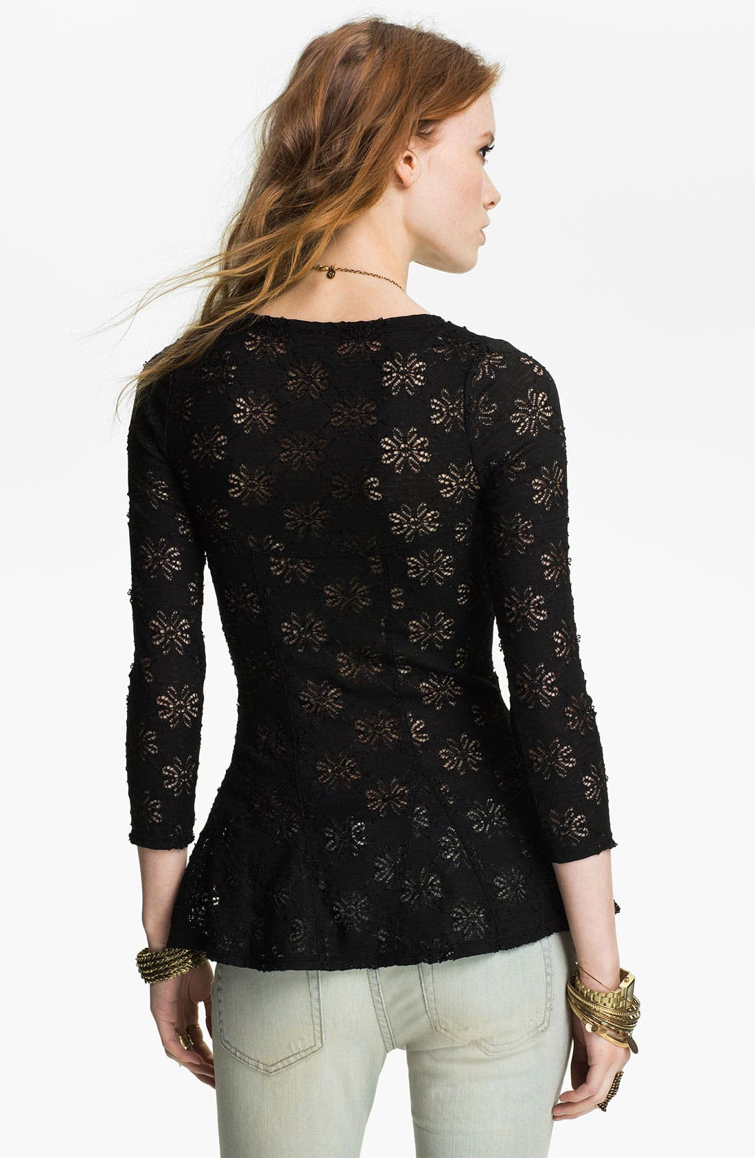 Alternate Image 2  - Free People Daisy Pointelle Top