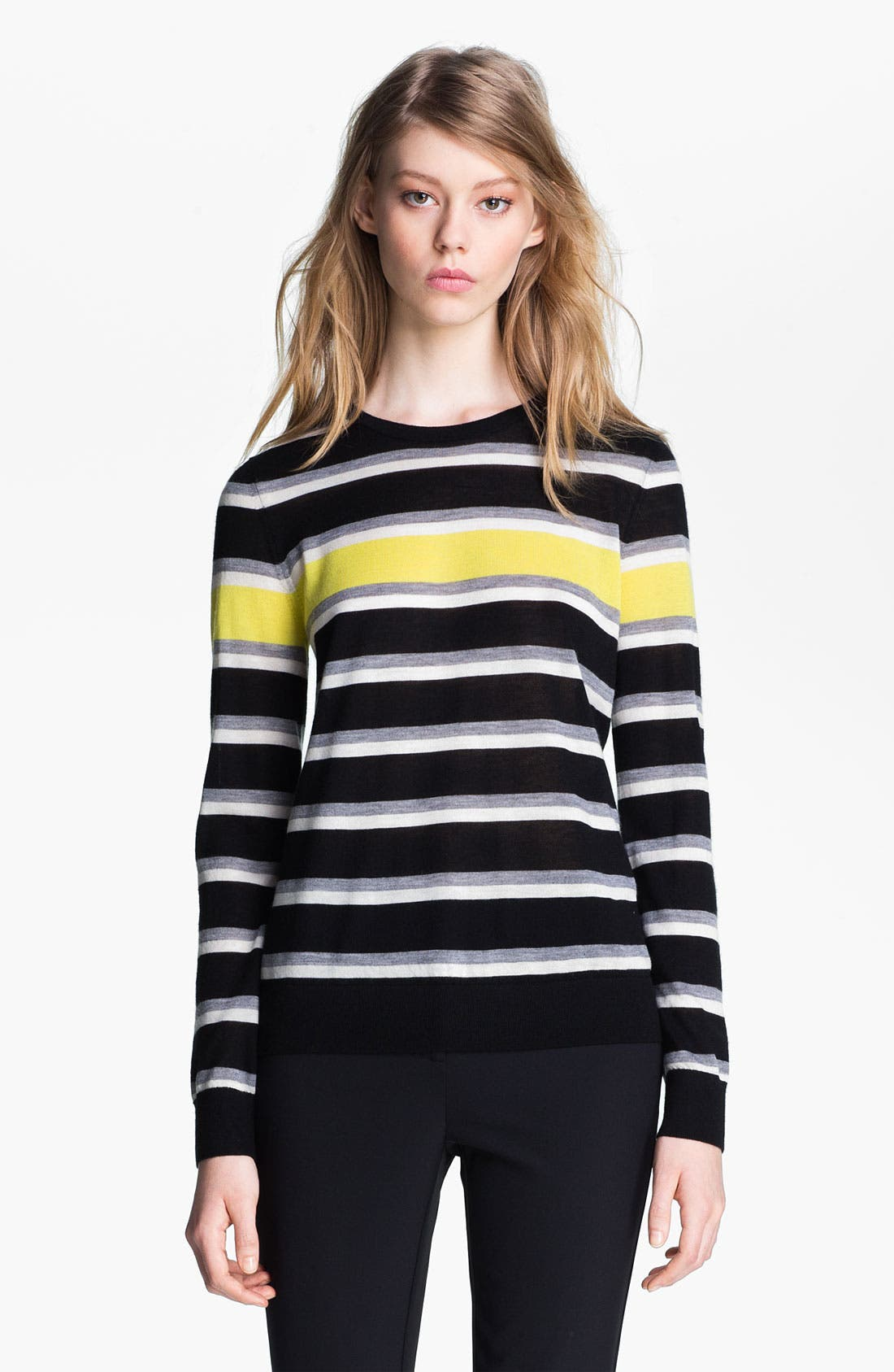Alternate Image 2  - Miss Wu 'Sofie' Stripe Cashmere Sweater (Nordstrom Exclusive)