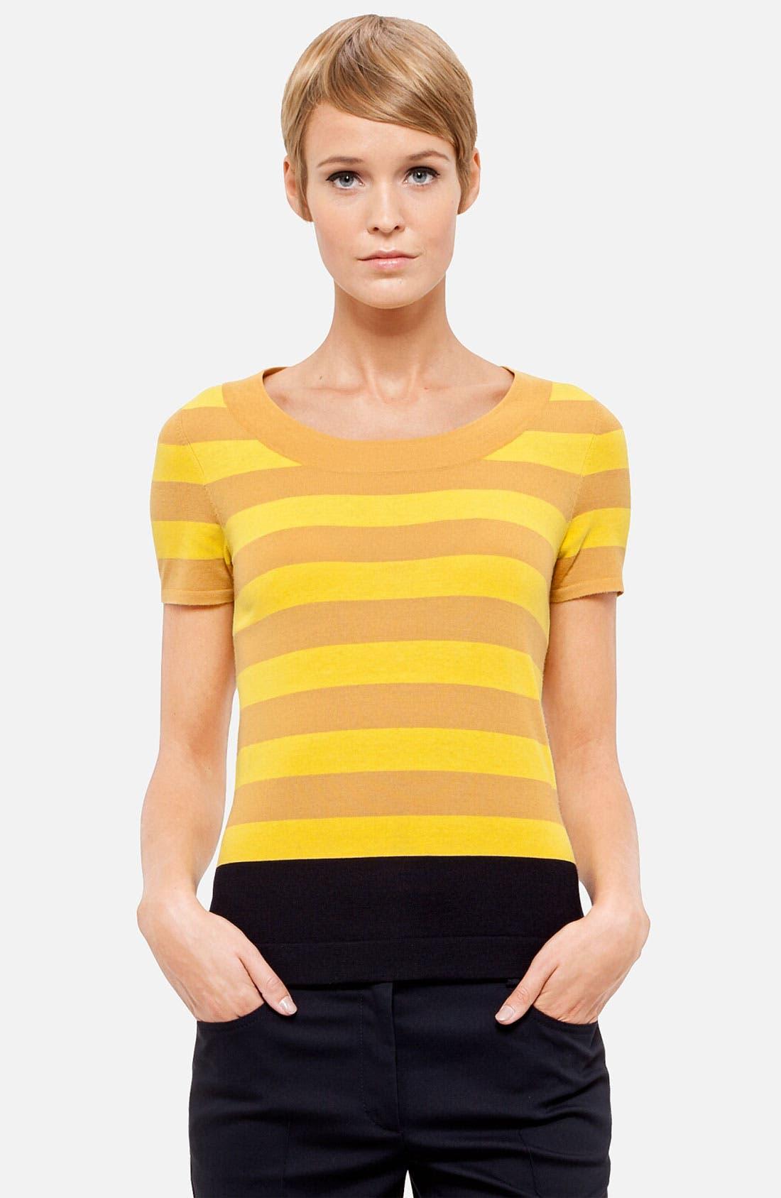 Alternate Image 1 Selected - Akris punto Stripe Wool Sweater
