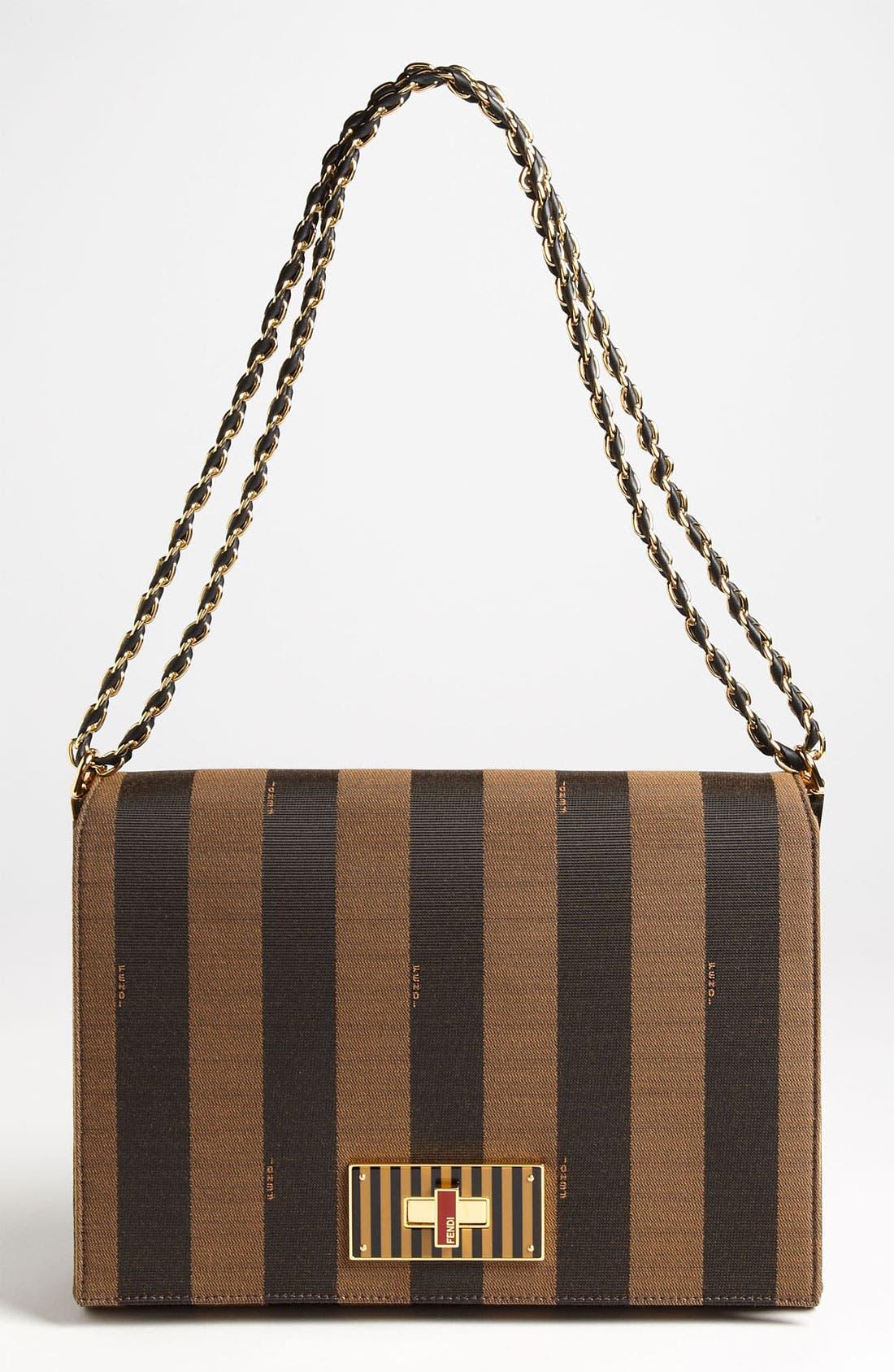 Main Image - Fendi 'Large Pequin Claudia' Shoulder Bag