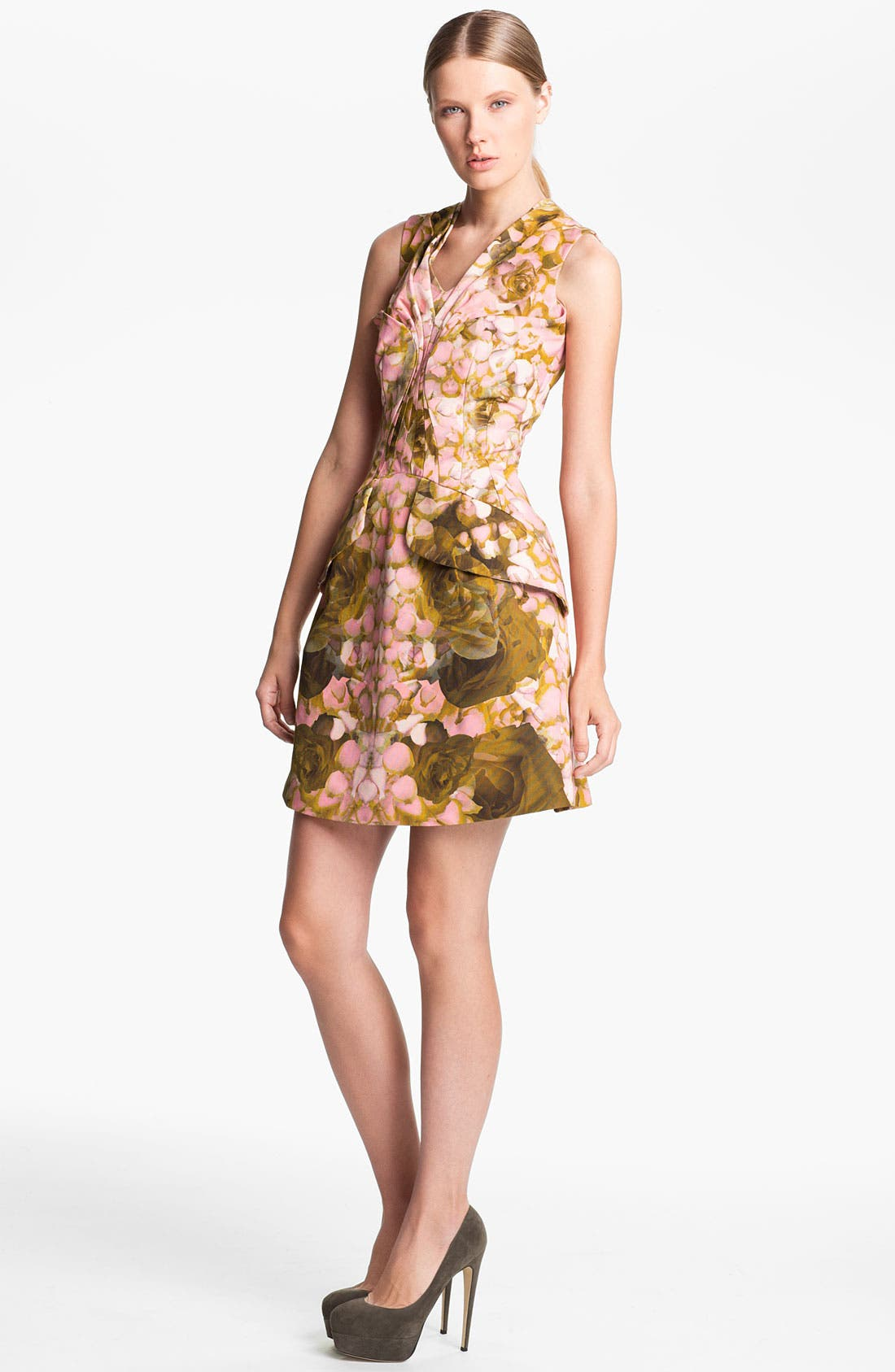 Alternate Image 1 Selected - McQ by Alexander McQueen Rose Print Dress