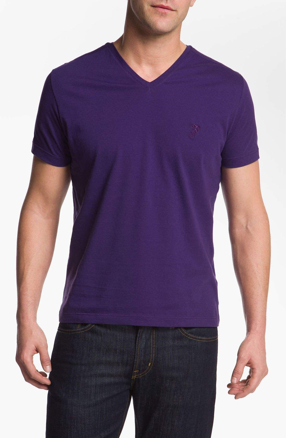 Main Image - Versace V-Neck T-Shirt (Online Only)