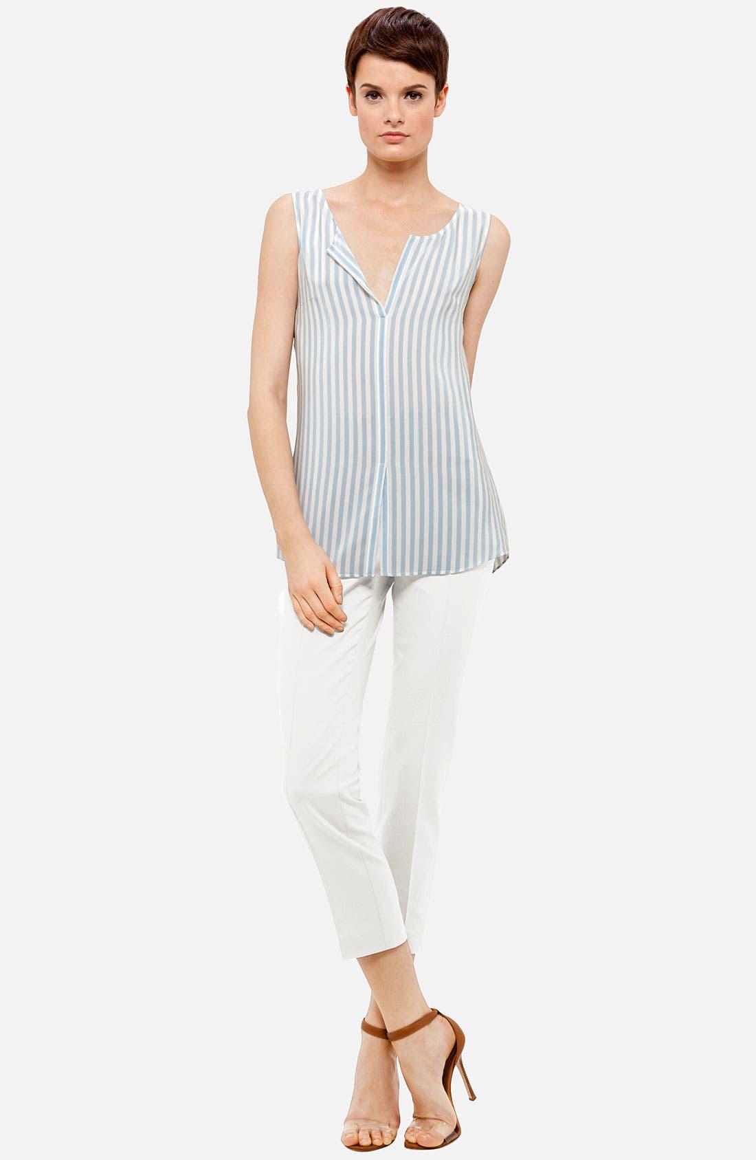 Alternate Image 4  - Akris punto Stripe Silk Blouse