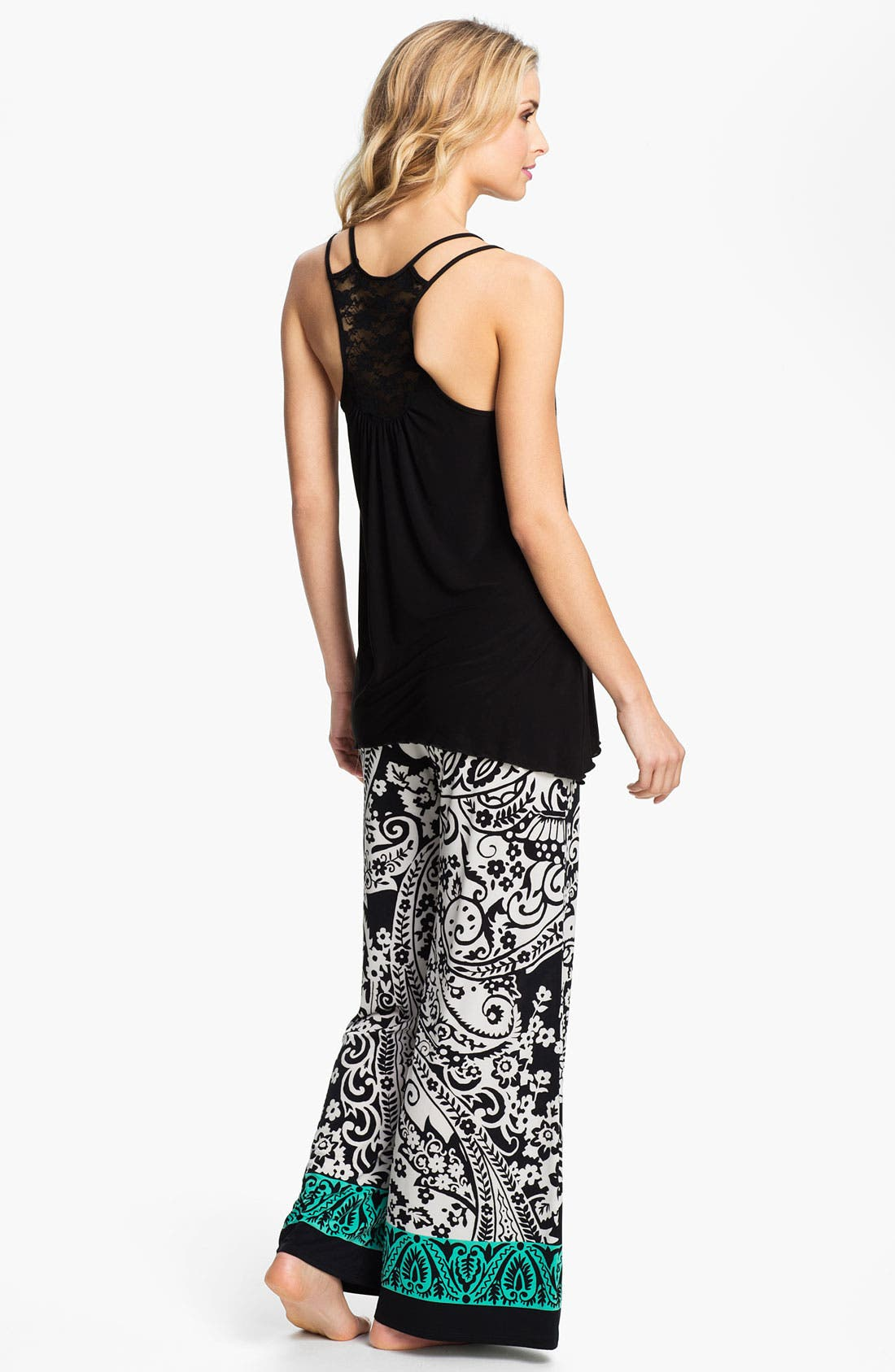 Alternate Image 4  - In Bloom by Jonquil Paisley Border Pants