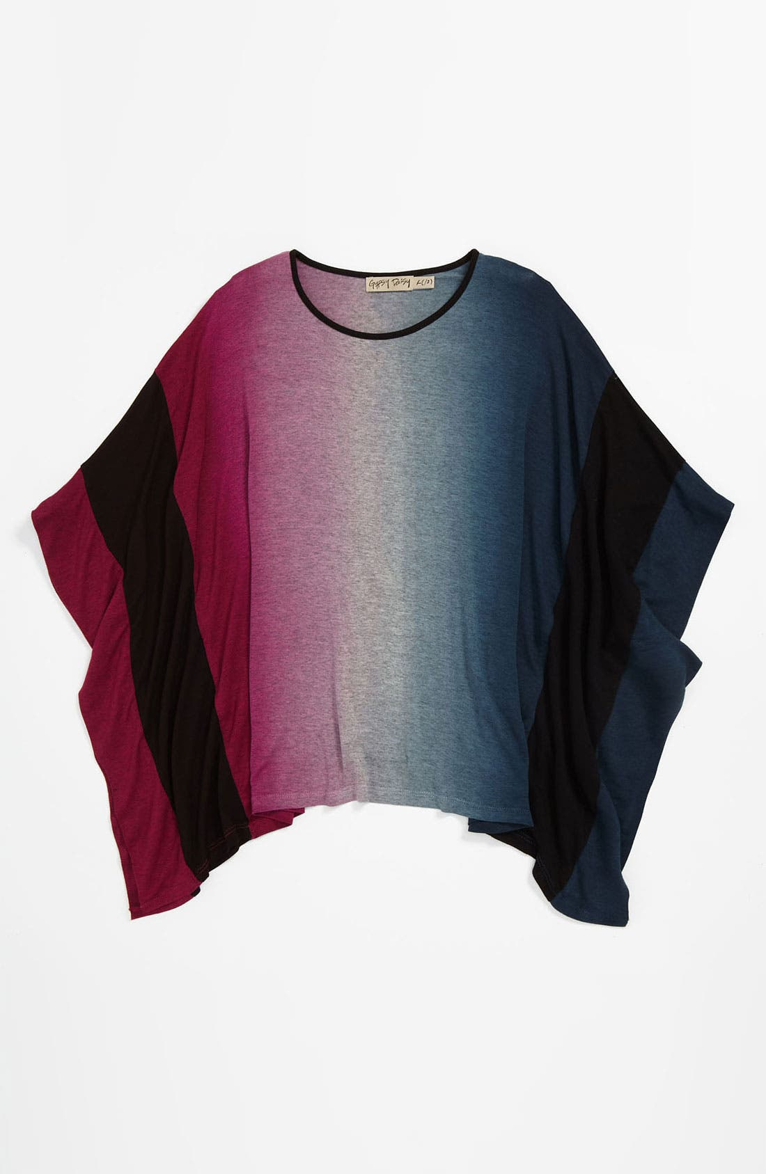 Alternate Image 1 Selected - Gypsy Daisy Colorblock Poncho (Big Girls)