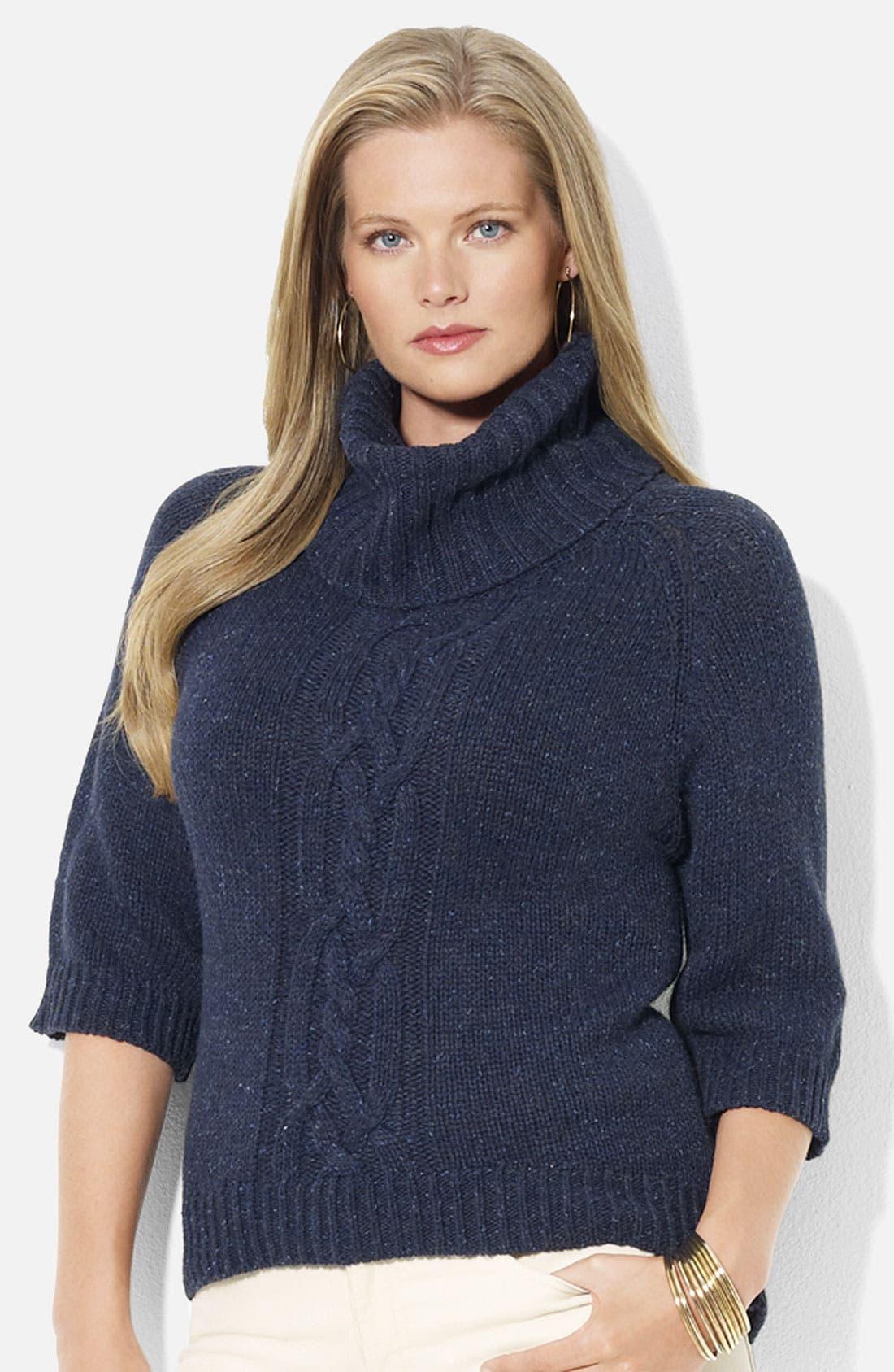Alternate Image 1 Selected - Lauren Ralph Lauren Turtleneck Sweater (Plus)