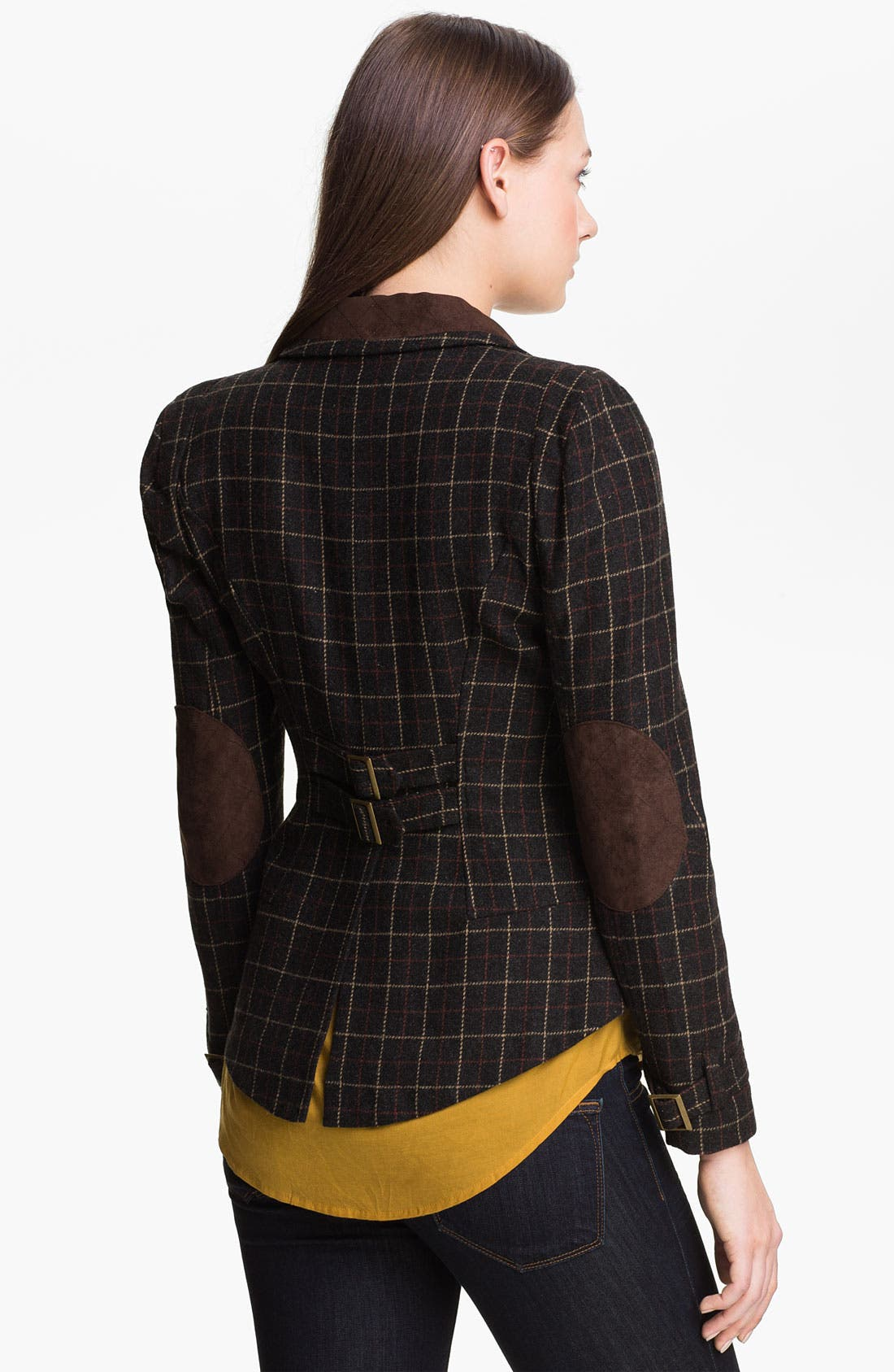 Alternate Image 2  - Max & Mia Plaid Riding Blazer