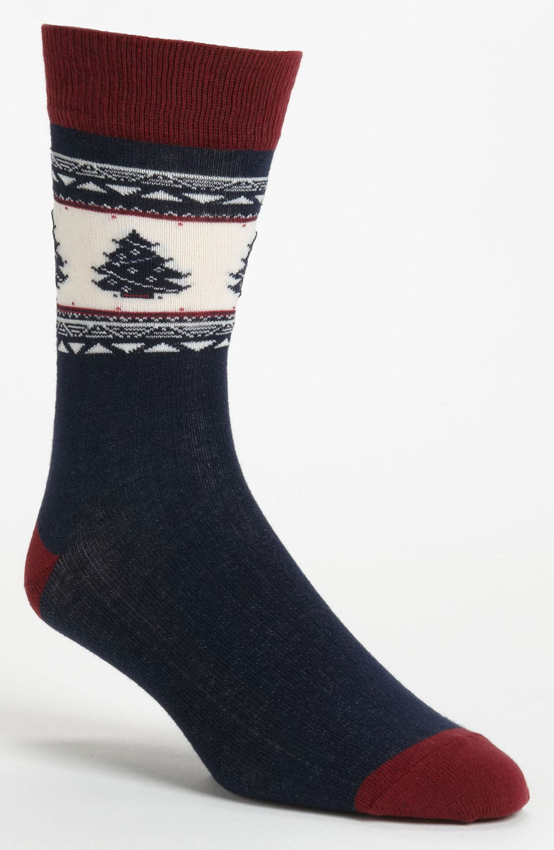 Alternate Image 1 Selected - Topman Christmas Tree Pattern Socks