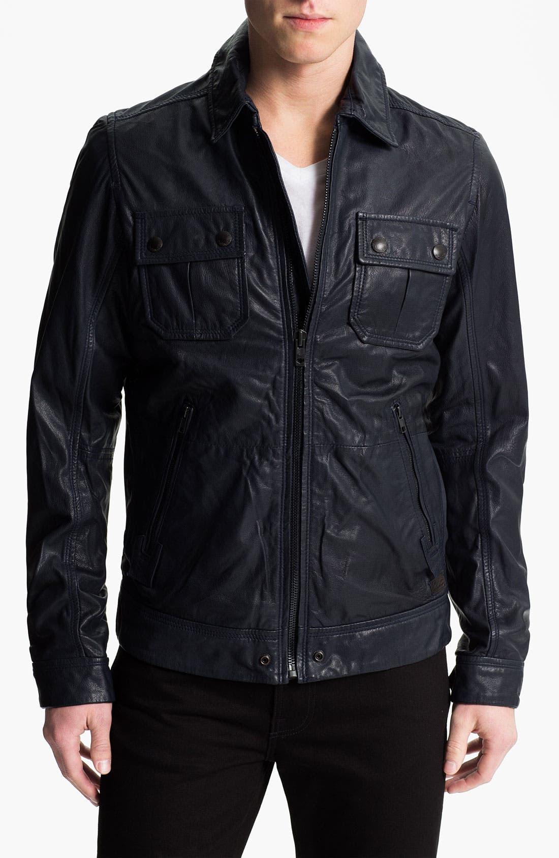 Alternate Image 1 Selected - DIESEL® 'Lordid' Leather Jacket