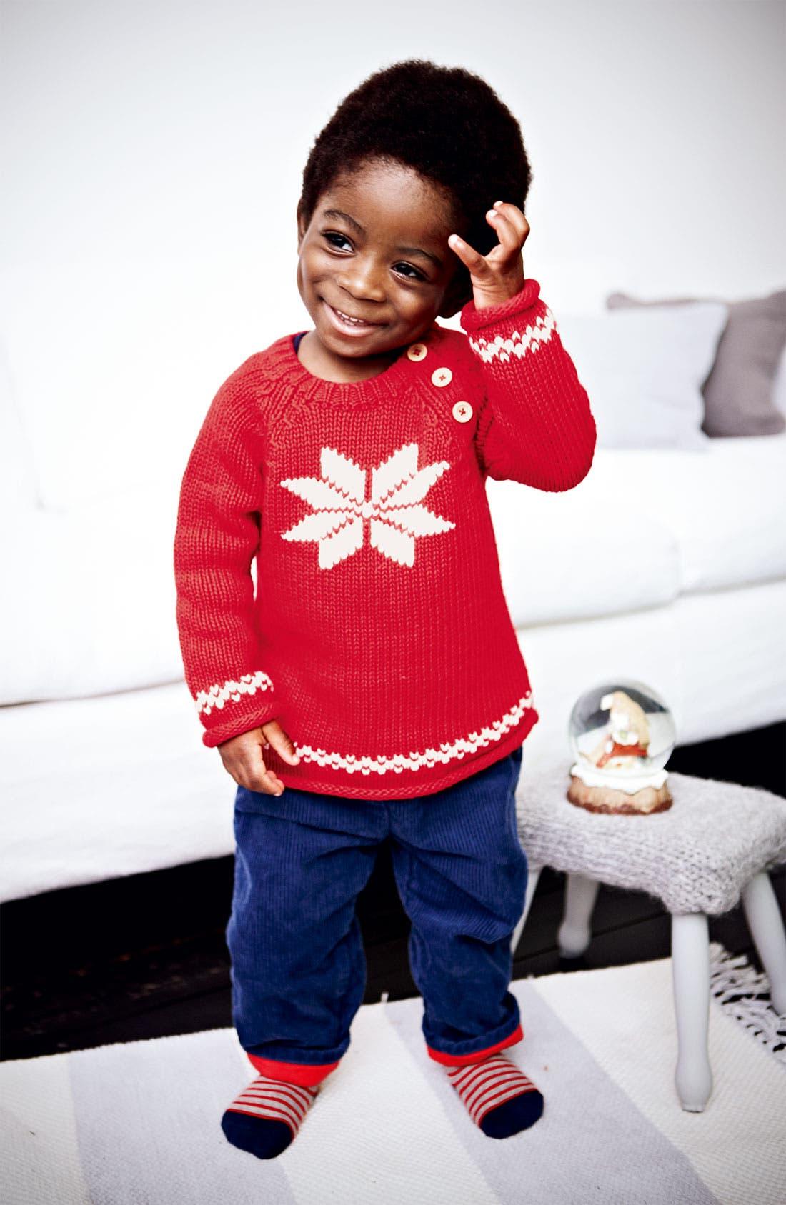Main Image - Mini Boden Sweater, Jenas & Socks (Infant)
