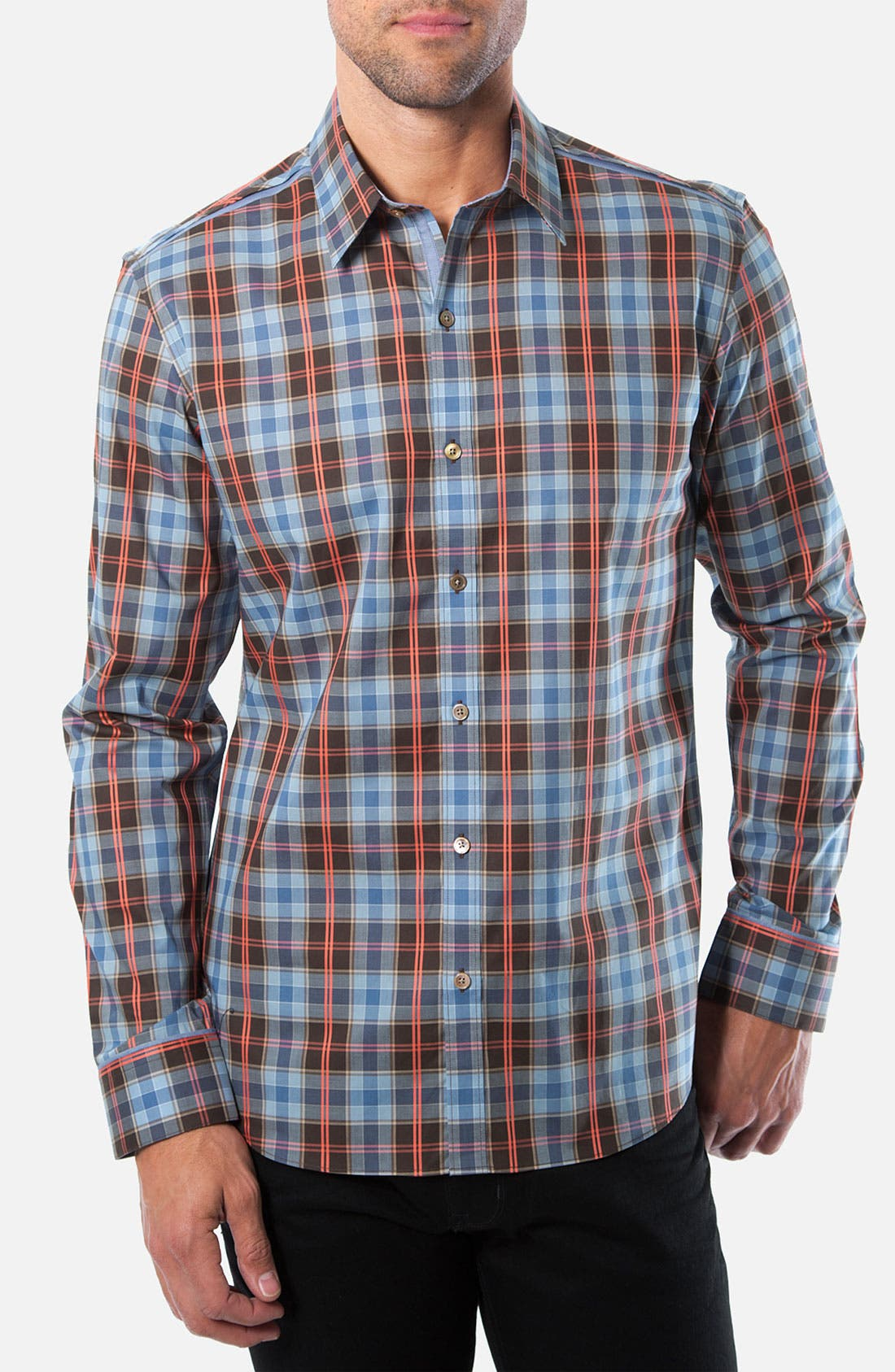 Alternate Image 1 Selected - Kenson Plaid Sport Shirt