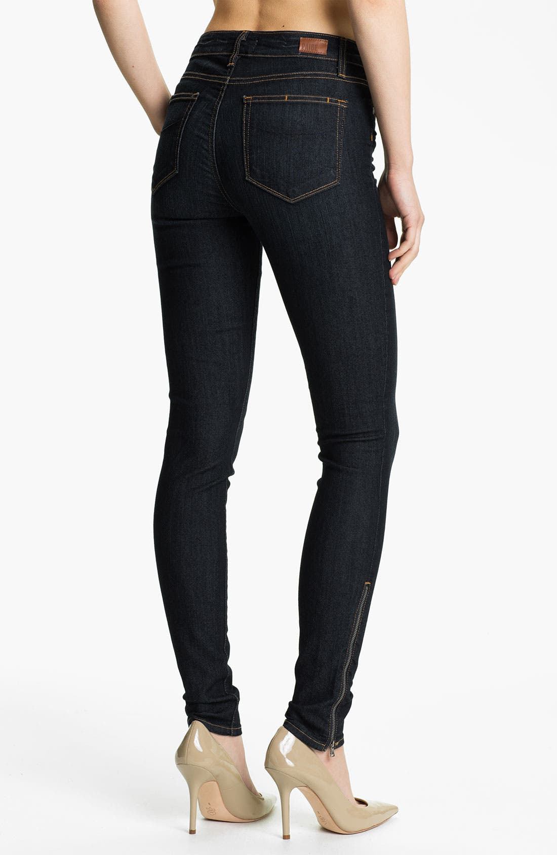 Alternate Image 2  - Paige Denim 'Hoxton' Ankle Zip Skinny Jeans (Stream)