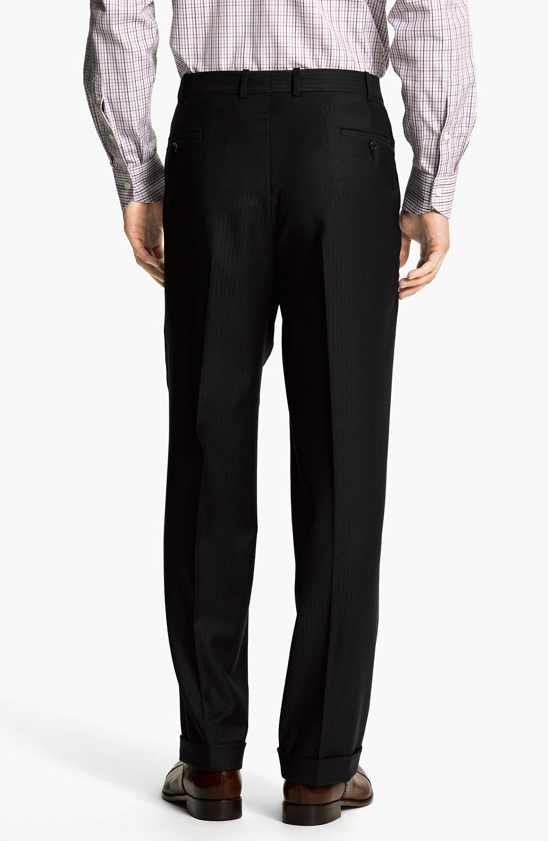 Alternate Image 5  - Peter Millar Stripe Wool Suit