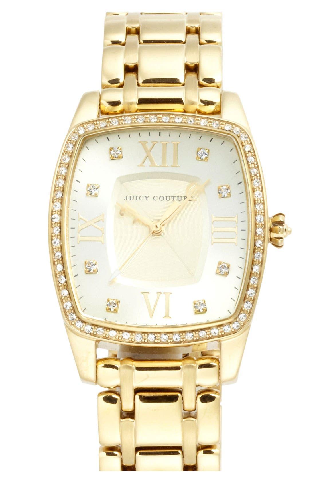 Main Image - Juicy Couture 'Beau' Square Bracelet Watch, 44mm x 32mm