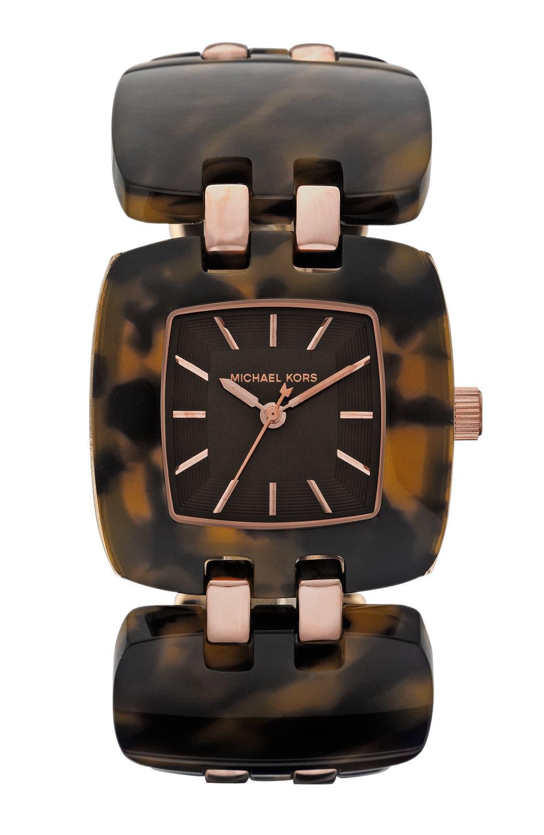 Alternate Image 1 Selected - Michael Kors 'Chip' Link Bracelet Watch