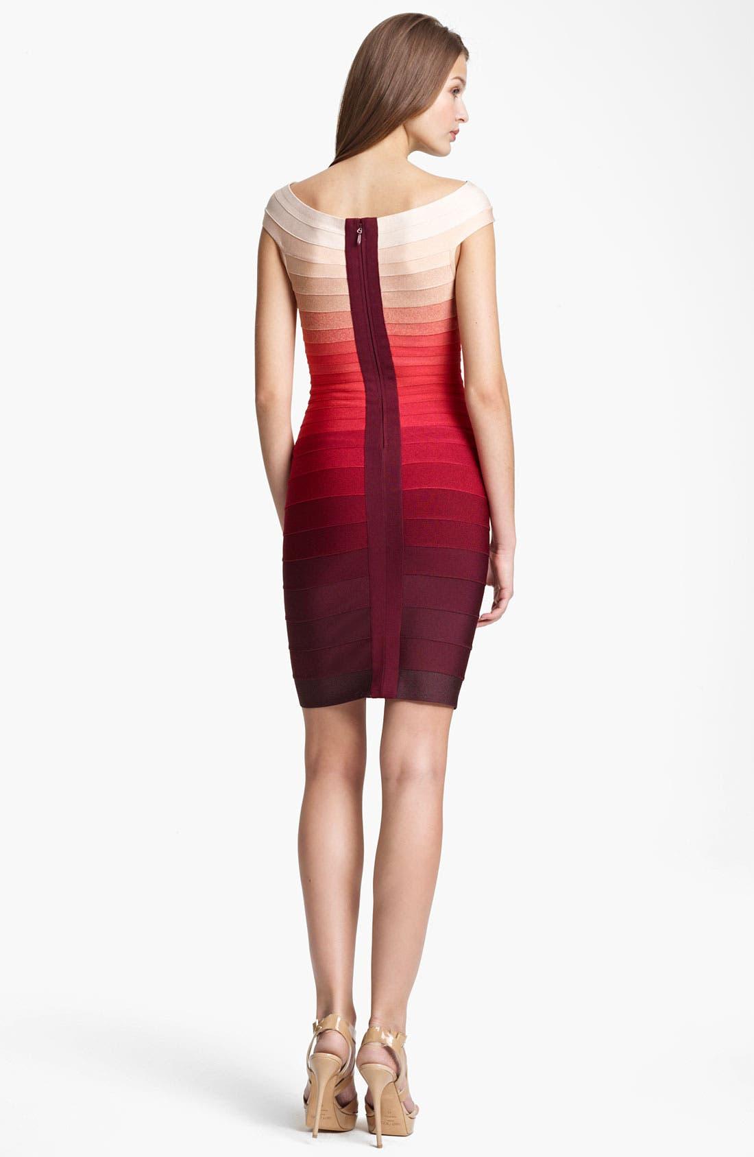 Alternate Image 2  - Herve Leger Ombré Bandage Dress