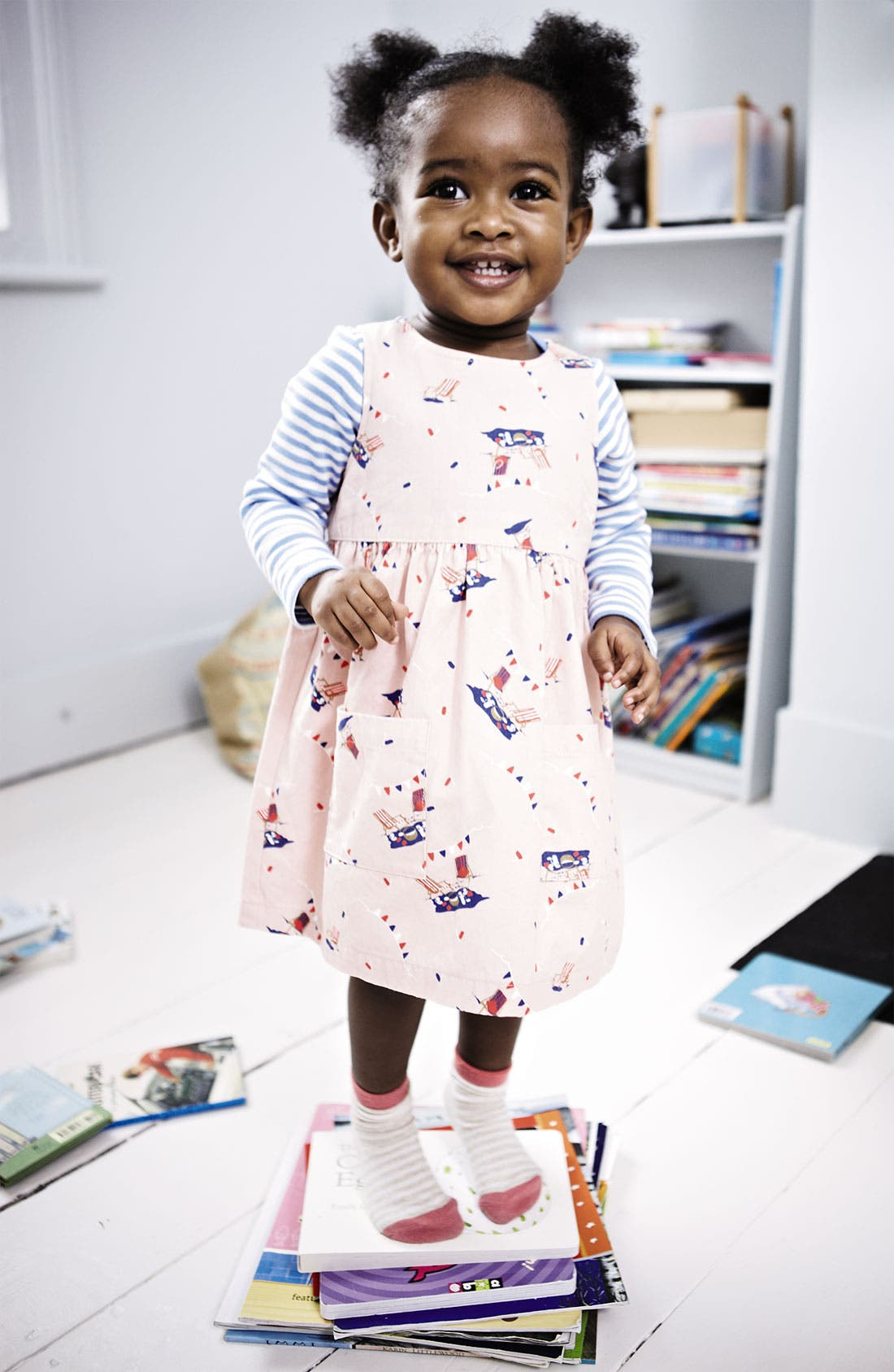 Alternate Image 2  - Mini Boden Wrap Dress (Baby)