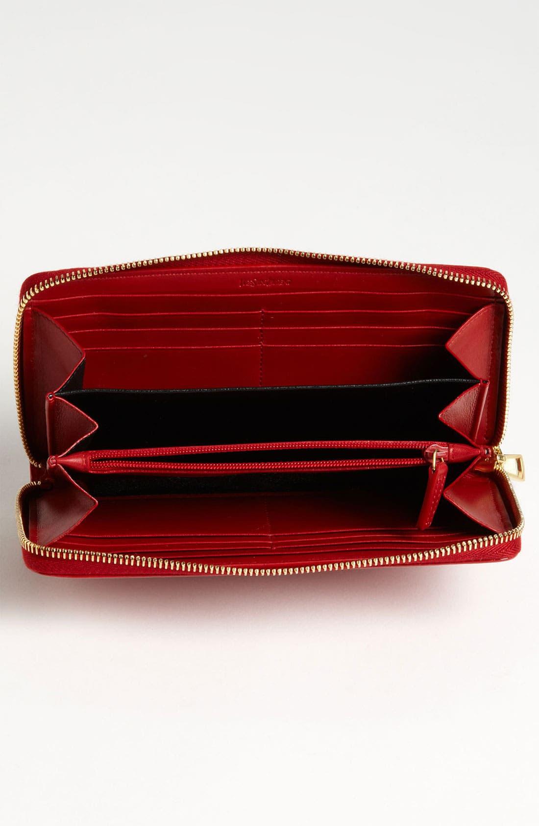 Alternate Image 3  - Saint Laurent 'Belle de Jour' Leather Wallet