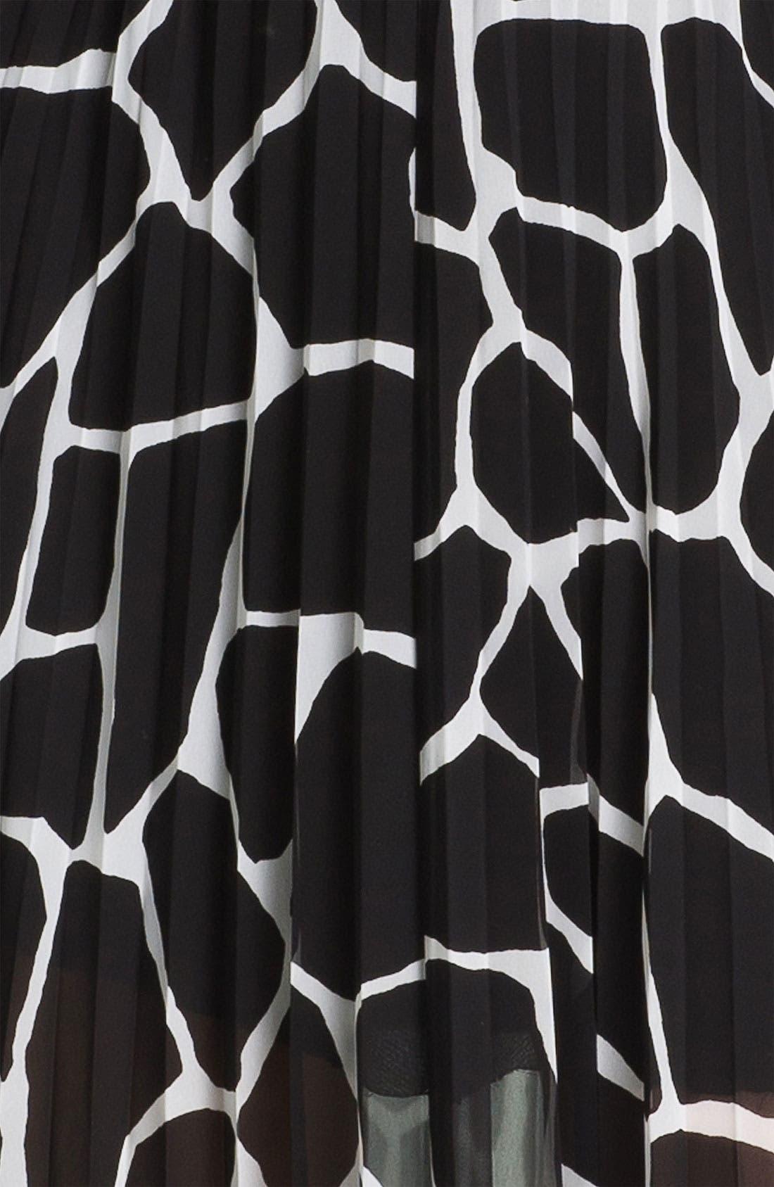 Alternate Image 3  - MICHAEL Michael Kors Pleated Chiffon Maxi Dress