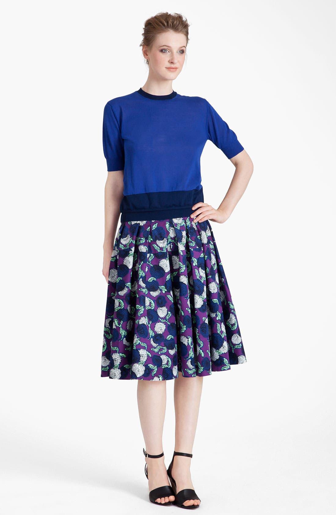 Alternate Image 4  - Marni Mum Print Gabardine Skirt