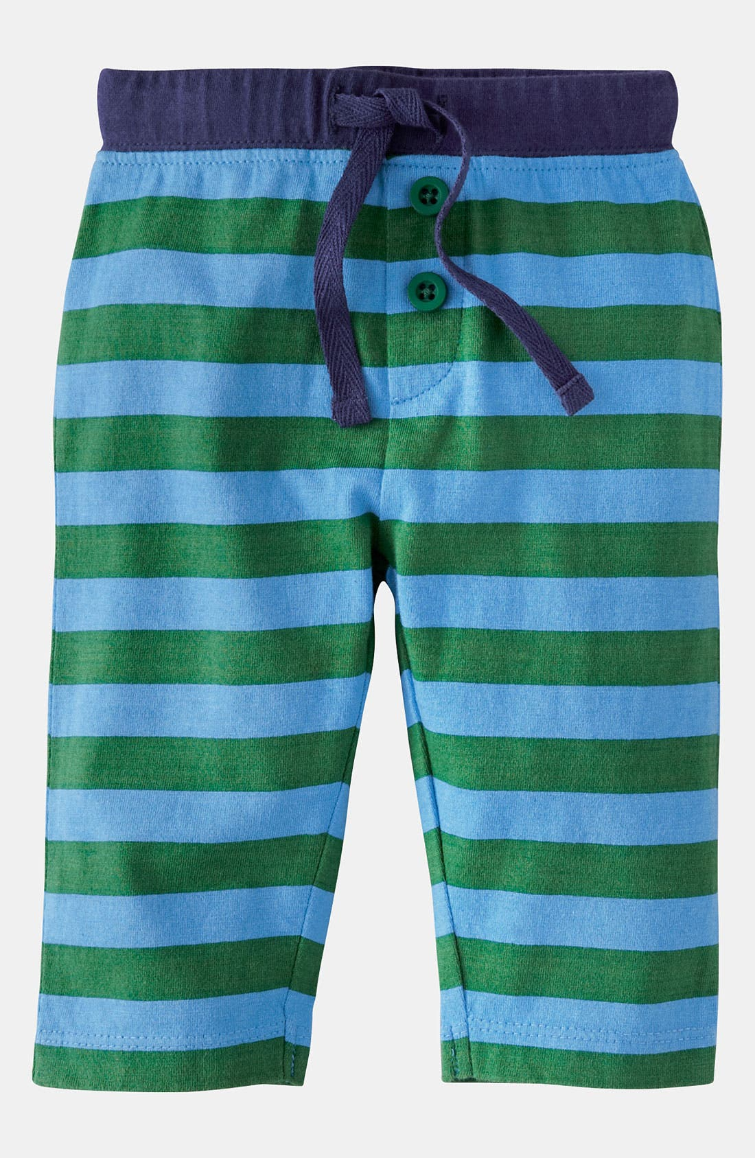 Alternate Image 1 Selected - Mini Boden 'Stripy' Jersey Pants (Baby)