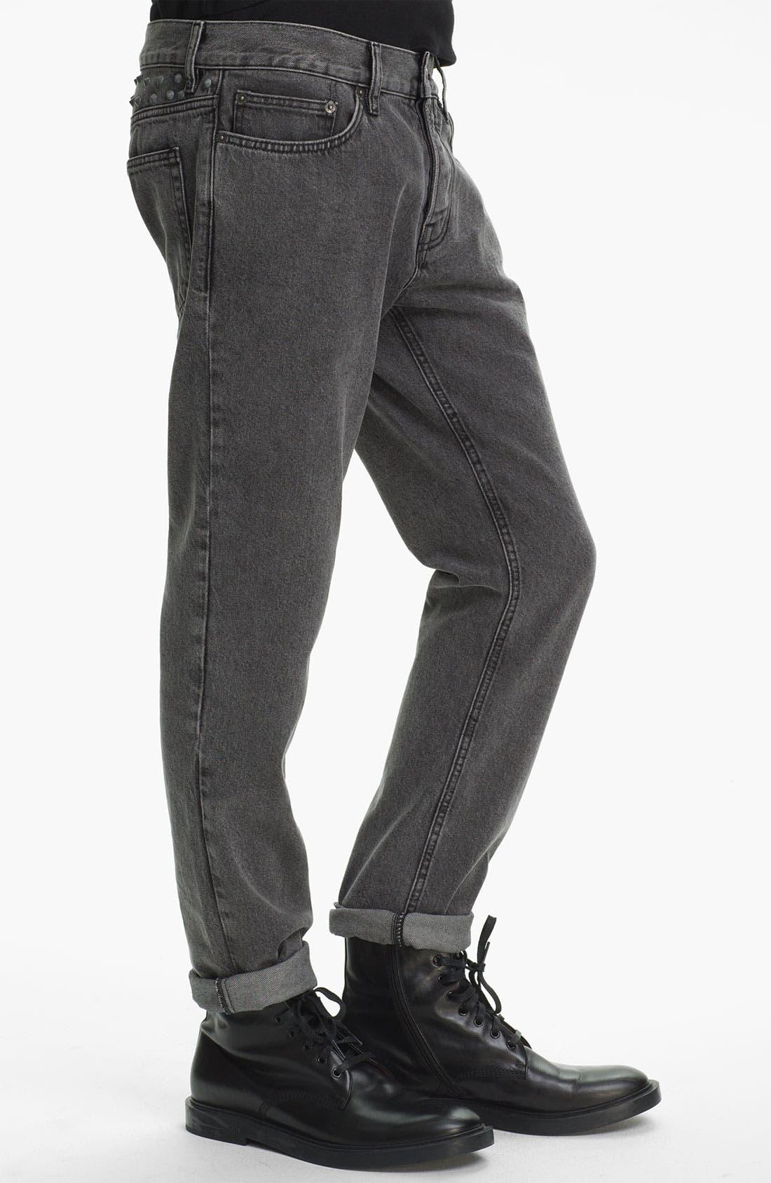 Alternate Image 3  - Topman Studded Skinny Fit Jeans