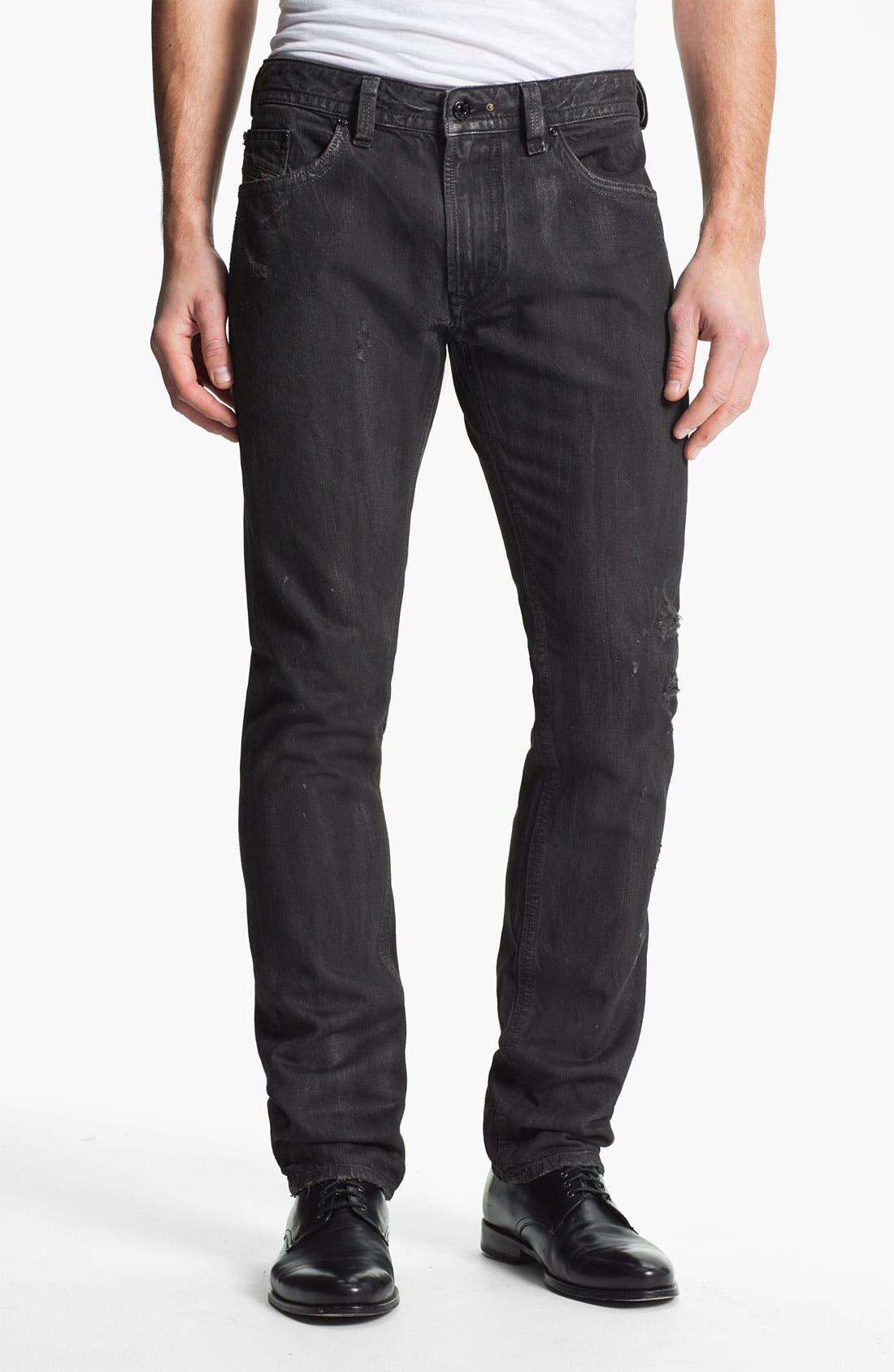 Alternate Image 2  - DIESEL® 'Thavar' Slim Straight Leg Jeans