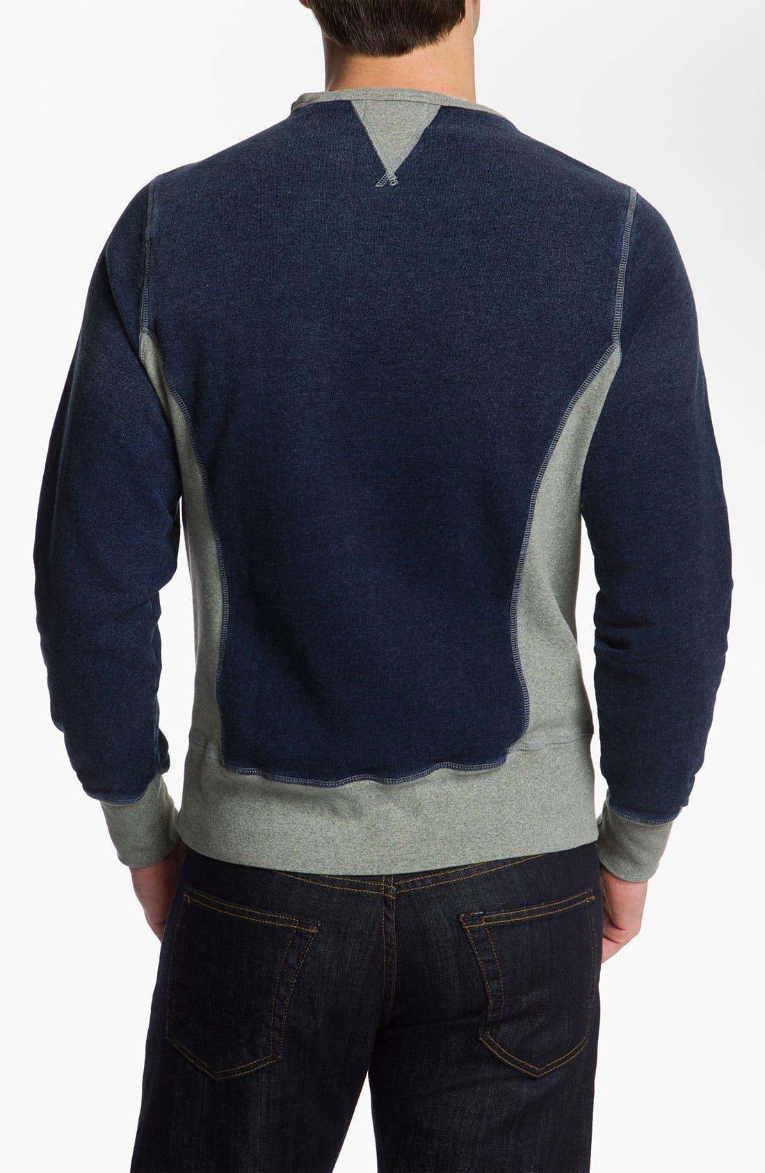 Alternate Image 2  - AG Jeans Long Sleeve Crewneck Pullover