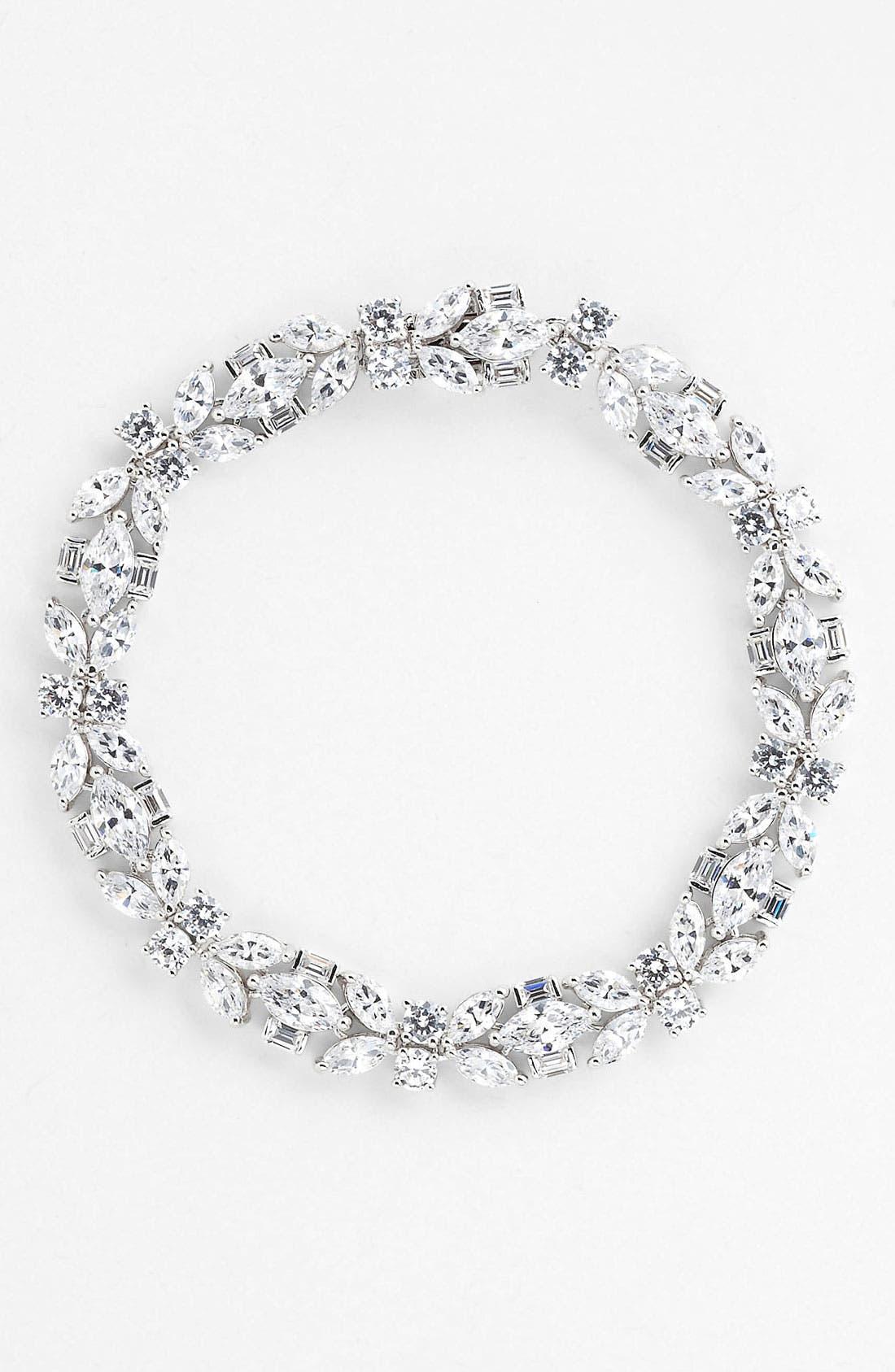 Main Image - Nadri Cubic Zirconia Cluster Line Bracelet (Nordstrom Exclusive)