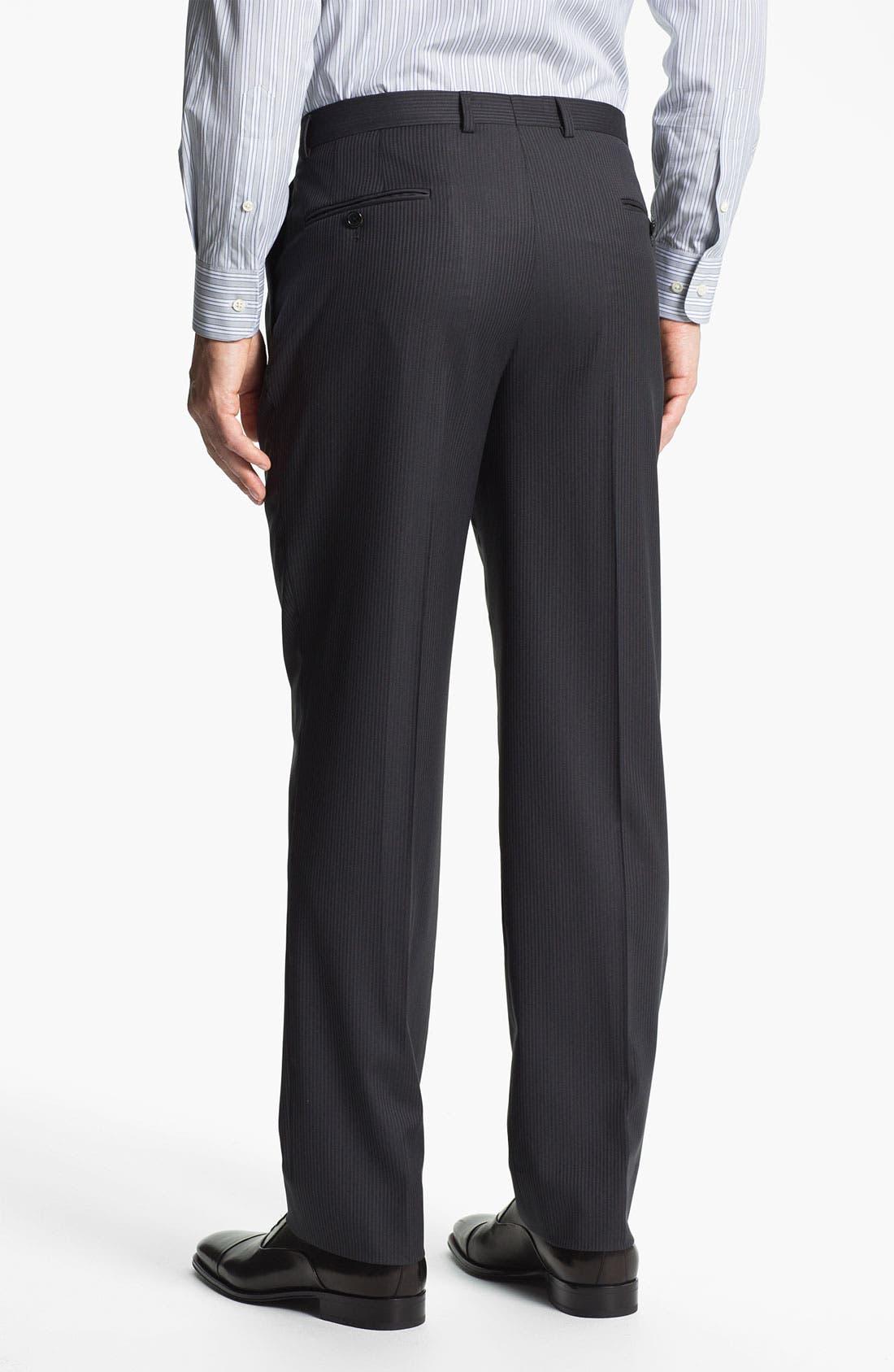 Alternate Image 5  - Hickey Freeman 'Beacon' Stripe Wool Suit