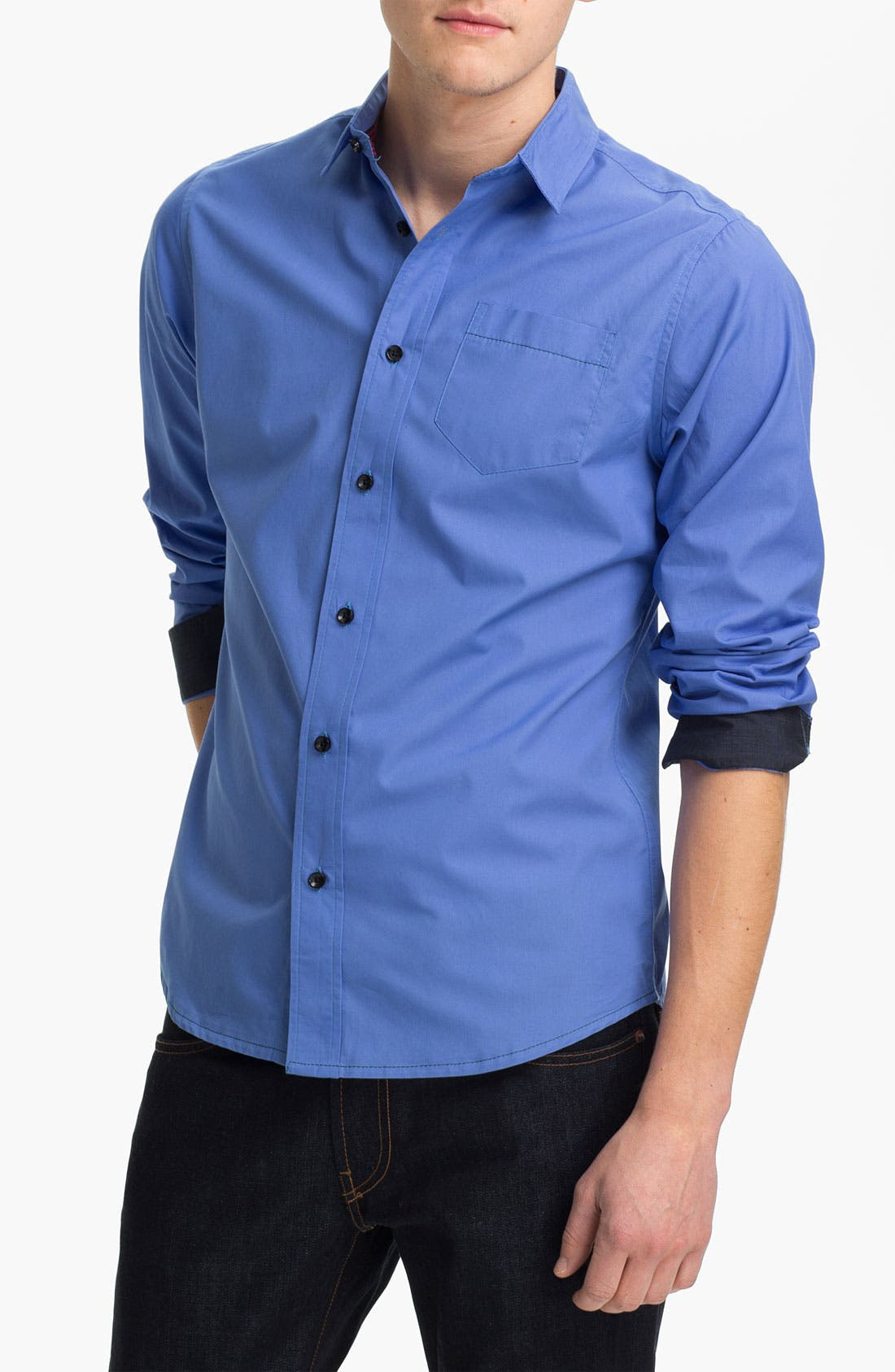 Alternate Image 1 Selected - Descendant of Thieves Woven Shirt