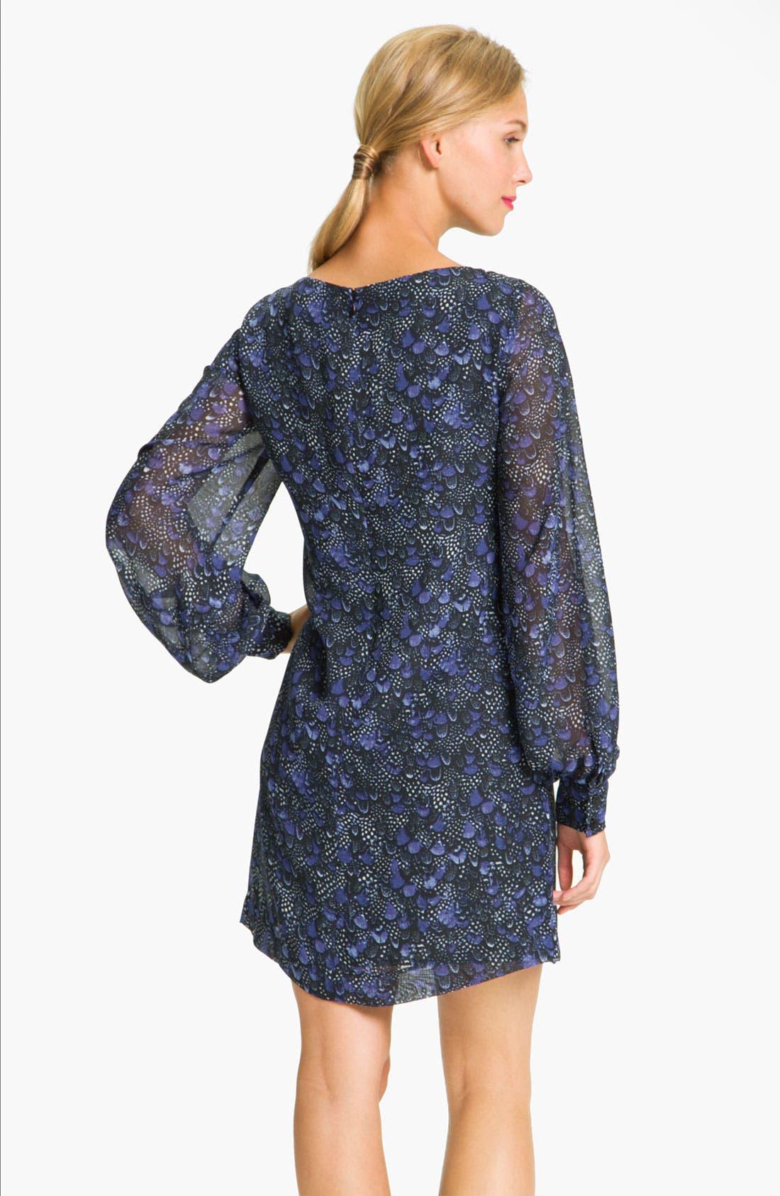 Alternate Image 2  - Donna Morgan Sheer Blouson Sleeve Shift Dress (Petite)