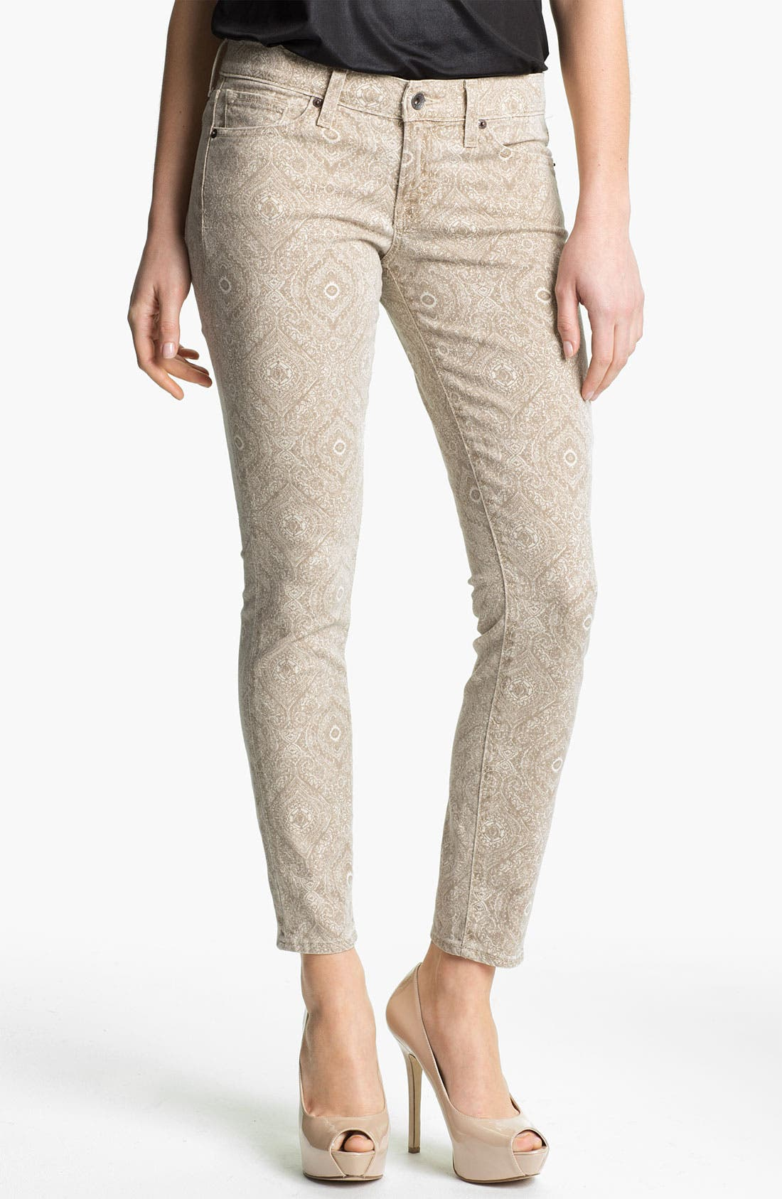 Alternate Image 1 Selected - Lucky Brand 'Charlie' Print Skinny Jeans (Online Exclusive)
