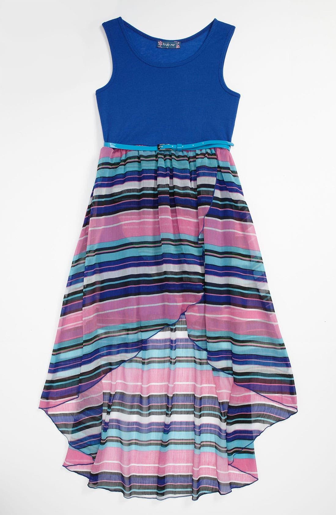 Main Image - Truly Me Sleeveless Dress (Big Girls)