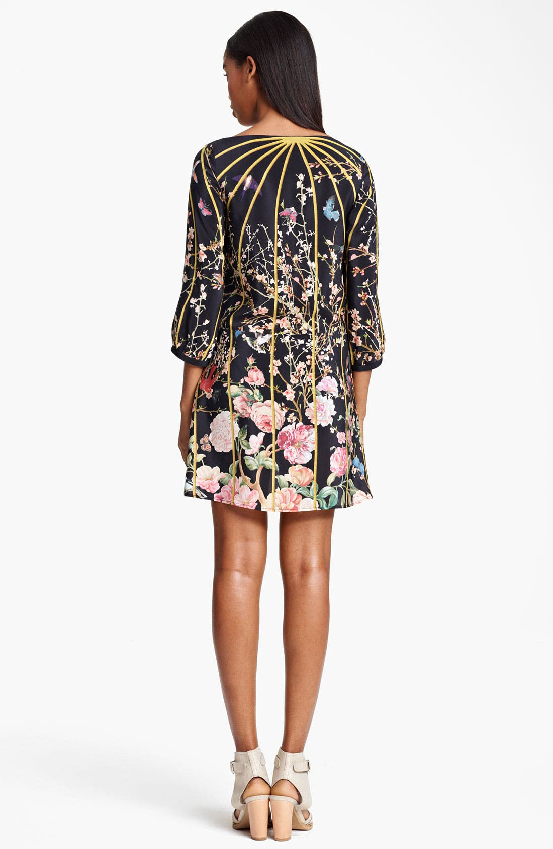 Alternate Image 2  - Thakoon Birdcage Print Silk Dress