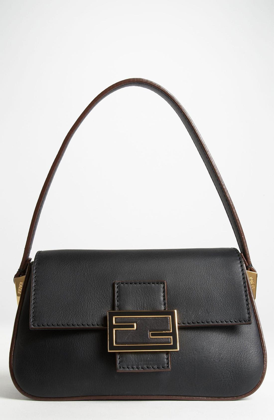 Main Image - Fendi 'Mamma - Mini' Leather Shoulder Bag