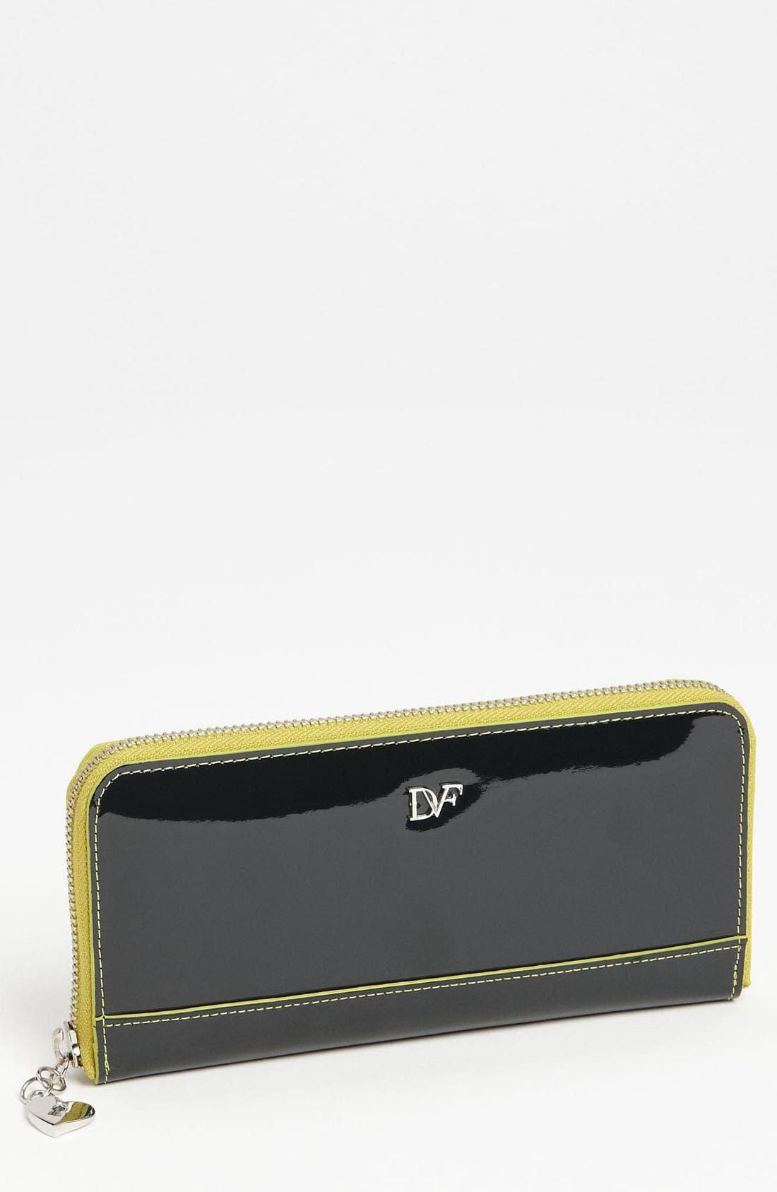 Main Image - Diane von Furstenberg Heart Charm Patent Leather Wallet