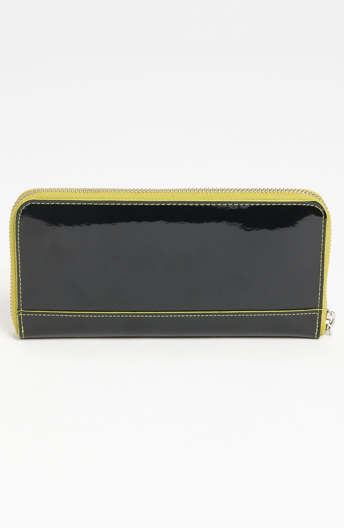 Alternate Image 4  - Diane von Furstenberg Heart Charm Patent Leather Wallet