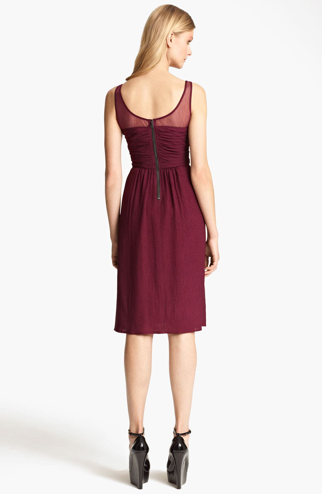 Alternate Image 2  - Burberry London Sleeveless Crinkle Chiffon Dress