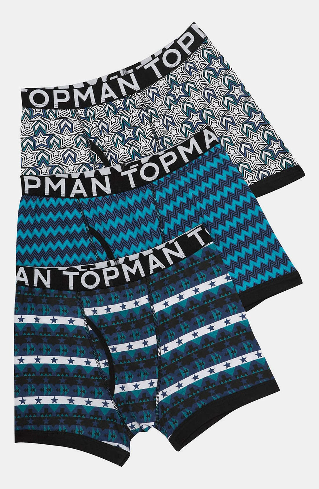 Alternate Image 1 Selected - Topman Mix Pattern Boxer Briefs (3-Pack)