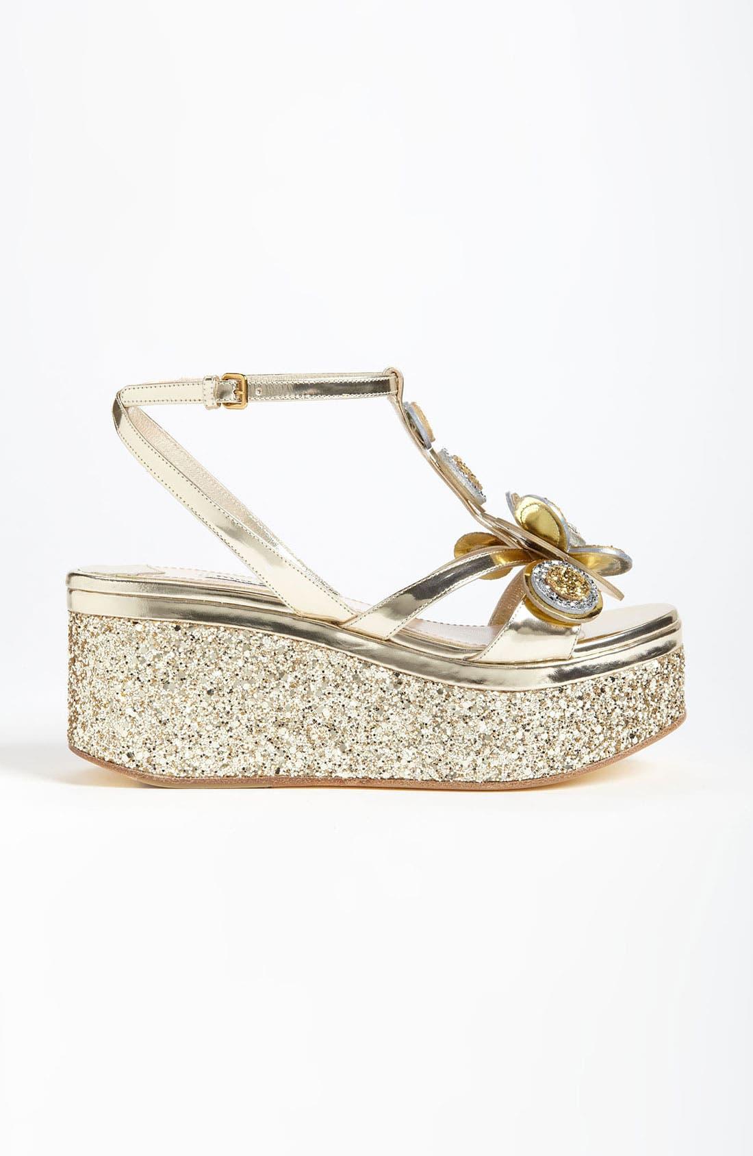 Alternate Image 4  - Miu Miu Flower Platform Sandal